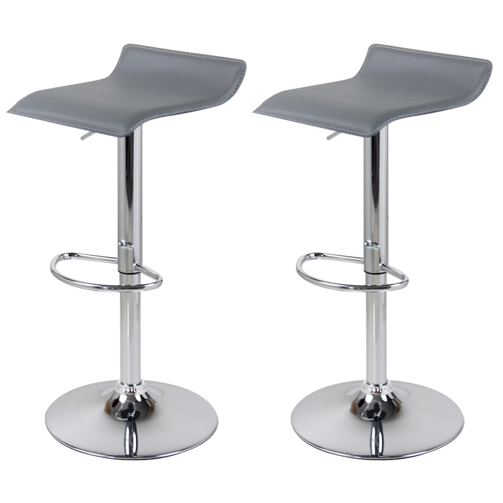 tabourets de bar en cuir synth tique linge lot de 2 chaise cuisine r glable f005 ebay. Black Bedroom Furniture Sets. Home Design Ideas
