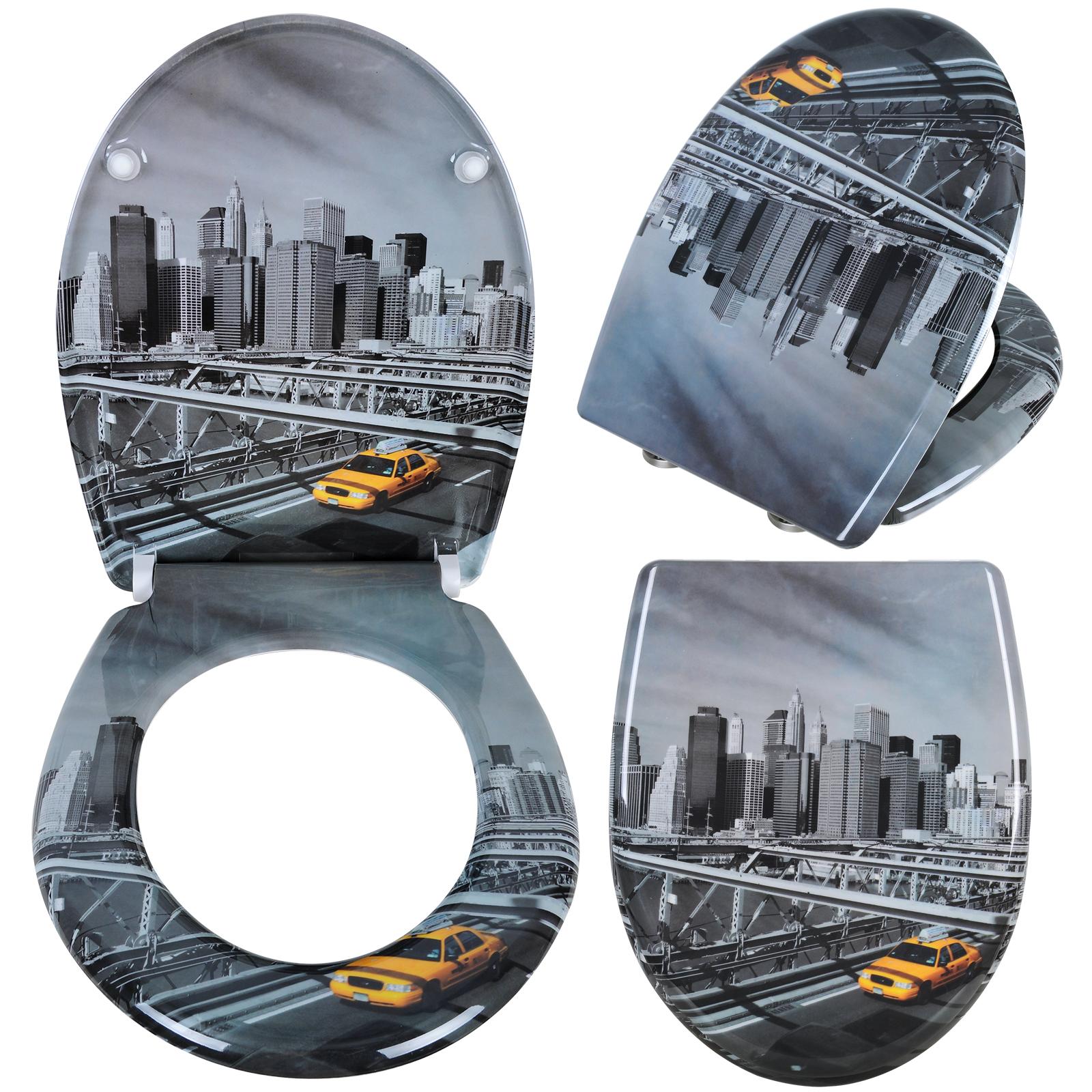 toilettensitz klodeckel wc sitz brille deckel toilettendeckel sitze schwarz 163 ebay. Black Bedroom Furniture Sets. Home Design Ideas