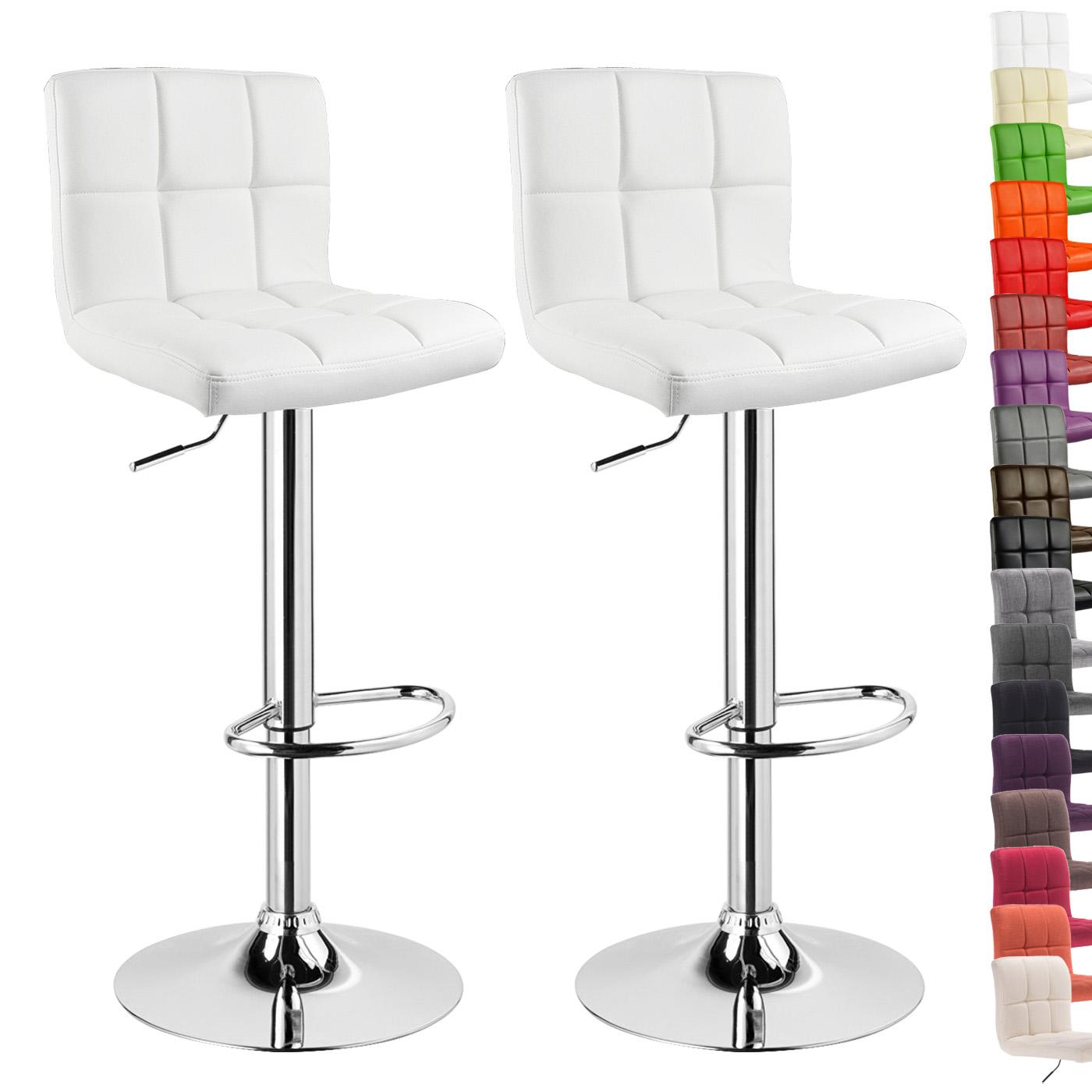 Tabourets de bar en pu lin avec dossier lot de 2 chaise - Tabouret de bar reglable avec dossier ...