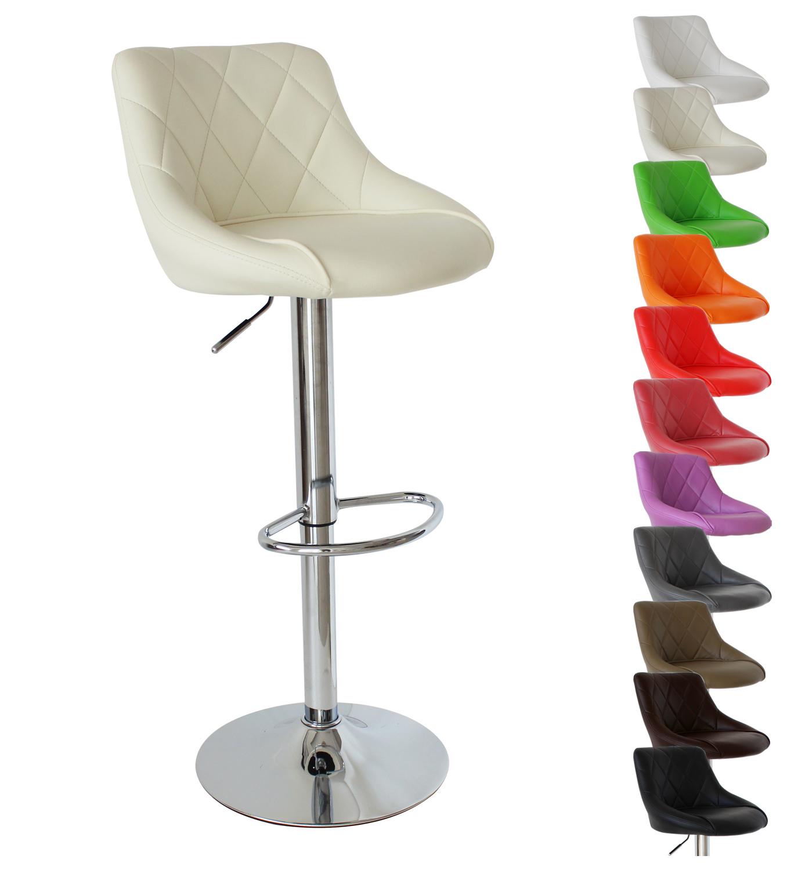 1 tabouret de bar pivotant en cuir synth tique chaise - Chaise de bar reglable ...