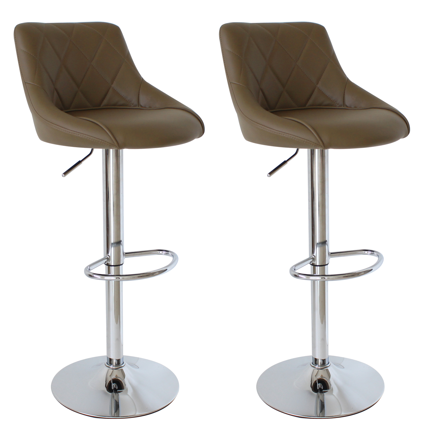 lot de 2 tabourets de bar avec dossier en pu chaise cuisine r glable f009 ebay. Black Bedroom Furniture Sets. Home Design Ideas