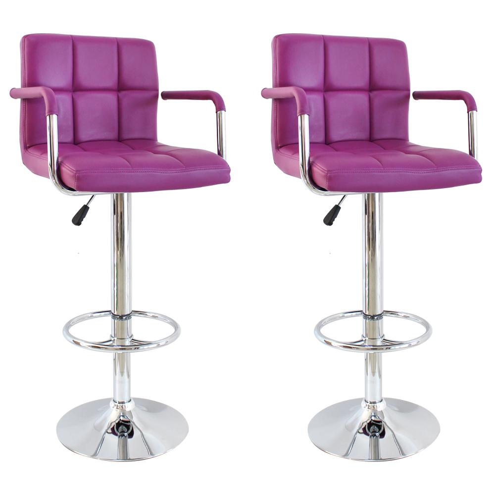 chaise de bar tabourets de bar 2x comptoir tabouret chaise tabouret cuir synth tique lounge. Black Bedroom Furniture Sets. Home Design Ideas
