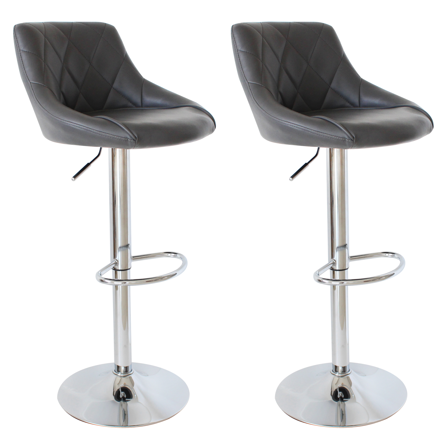 lot de 2 tabourets de bar avec dossier en pu chaise. Black Bedroom Furniture Sets. Home Design Ideas