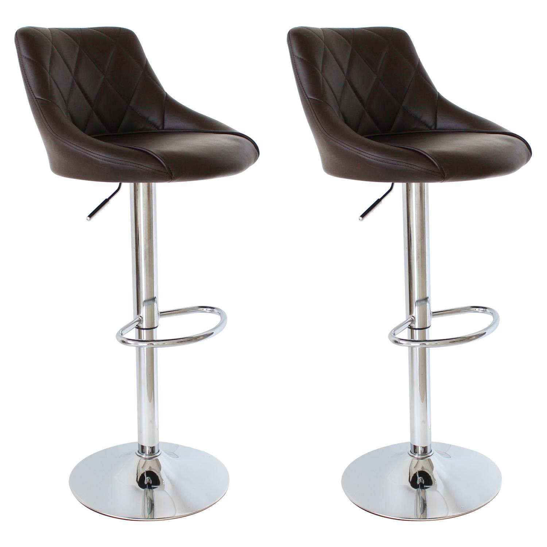 Bar Stools Faux Leather Set Of 2 Kitchen Breakfast Bar Stool Stools Chair U009