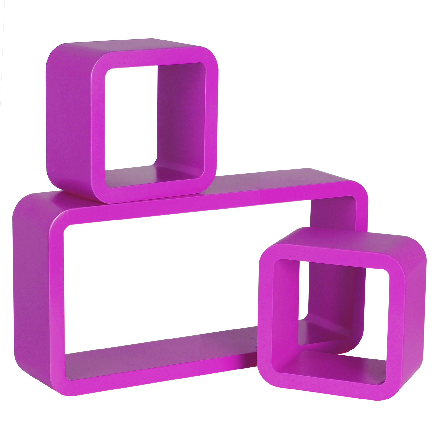 wandregal 3er set regal b cheregal h ngeregal cube retro. Black Bedroom Furniture Sets. Home Design Ideas