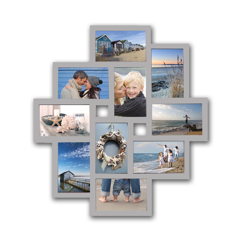 Bilderrahmen Collage Bildergalerie Foto Galerie Rahmen Weiß Silber ...