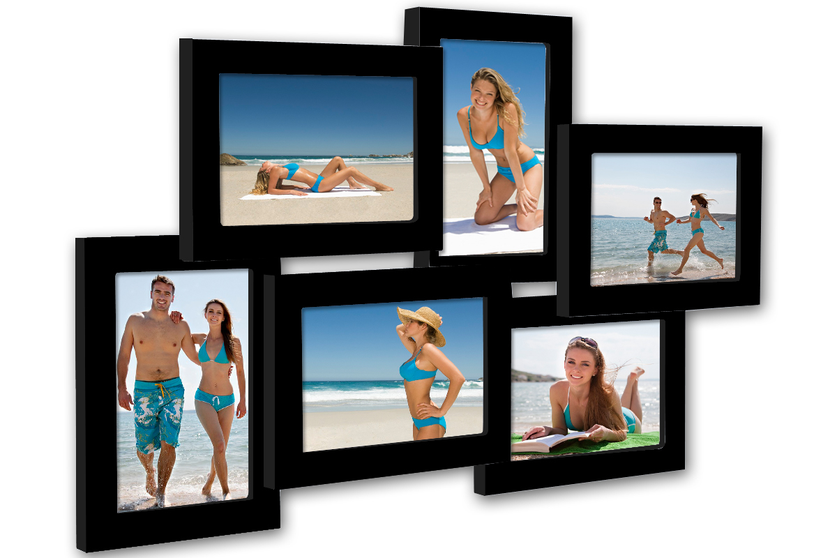 bildergalerie fotogalerie bilderrahmen collage bilder foto rahmen schwarz 127 2 ebay. Black Bedroom Furniture Sets. Home Design Ideas