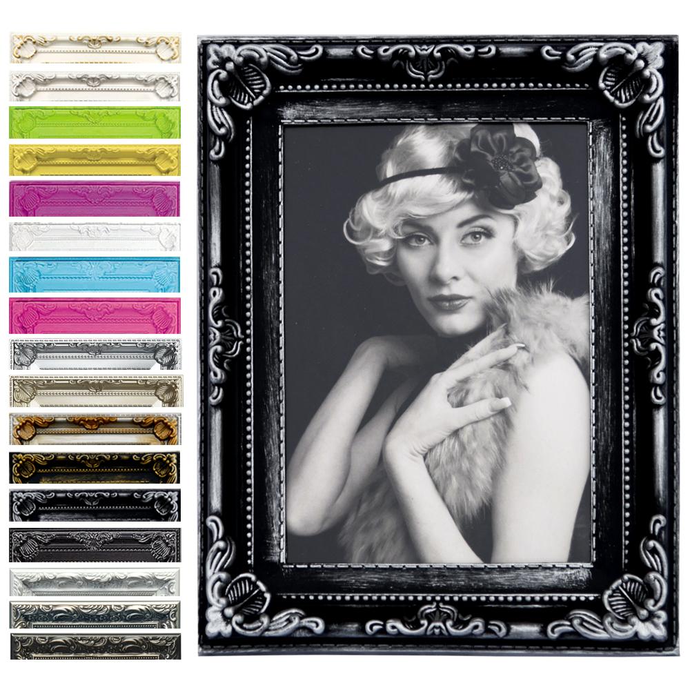 Rahmen-Bilderrahmen-Kunststoff-Galerie-Collage-Barock-6-Farbe-in-5-Groessen-51