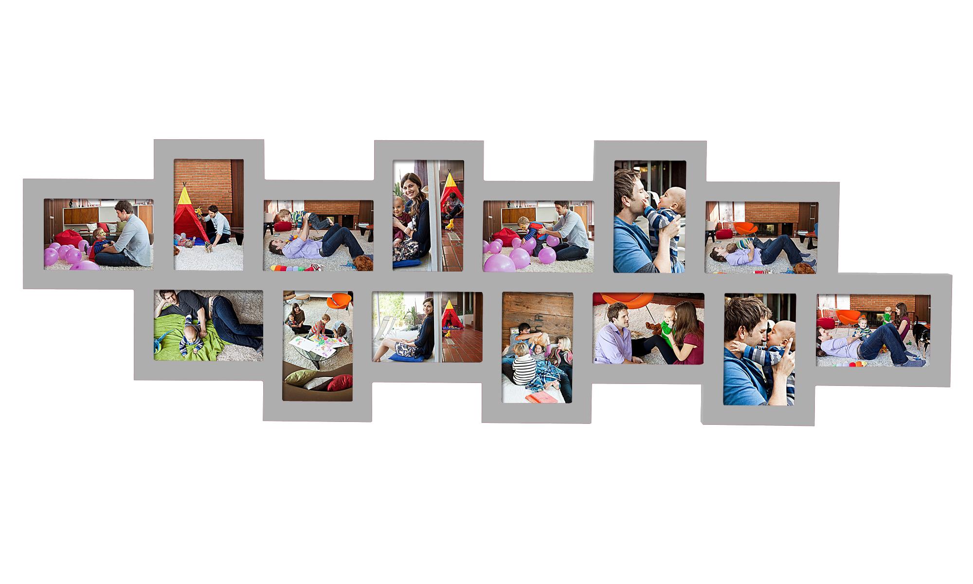 bilderrahmen bildergalerie fotorahmen wandgalerie bilder collage silber 127 3 ebay. Black Bedroom Furniture Sets. Home Design Ideas