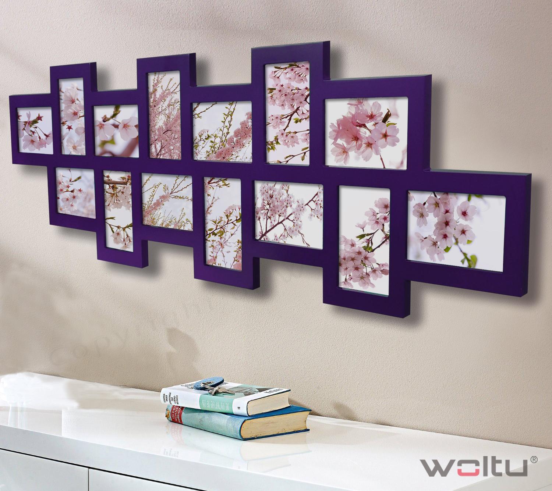 bilderrahmen collage bildergalerie foto galerie rahmen wei silber schwarz 127 ebay. Black Bedroom Furniture Sets. Home Design Ideas