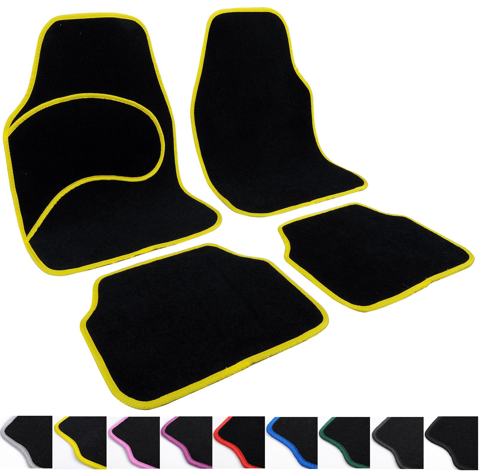 universal auto fu matten teppich matten autoteppiche stoffmatten set gelb 7138 ebay. Black Bedroom Furniture Sets. Home Design Ideas