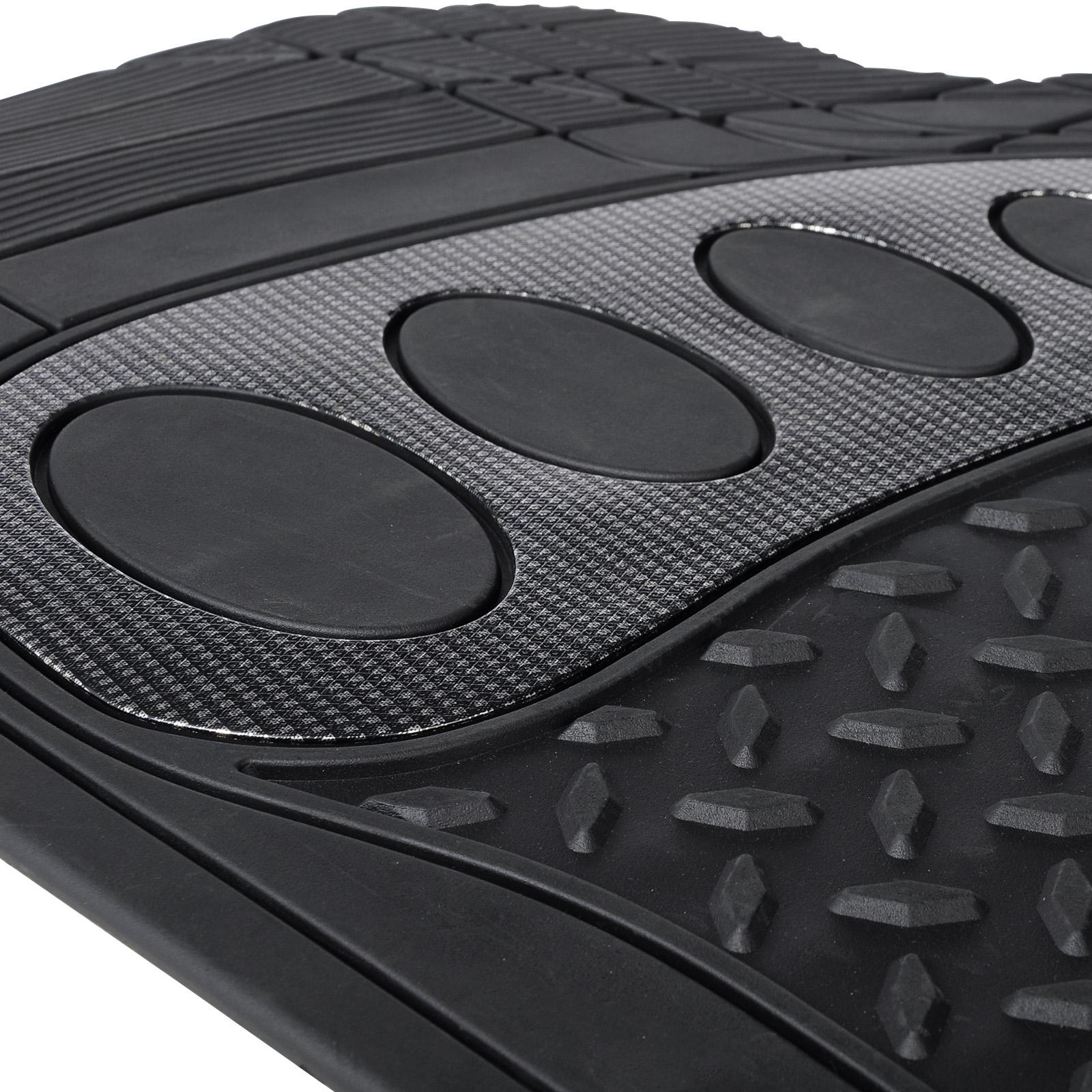 universal auto fu matten gummi matte riffelblech 4 teilig schwarz am7176sz ebay. Black Bedroom Furniture Sets. Home Design Ideas