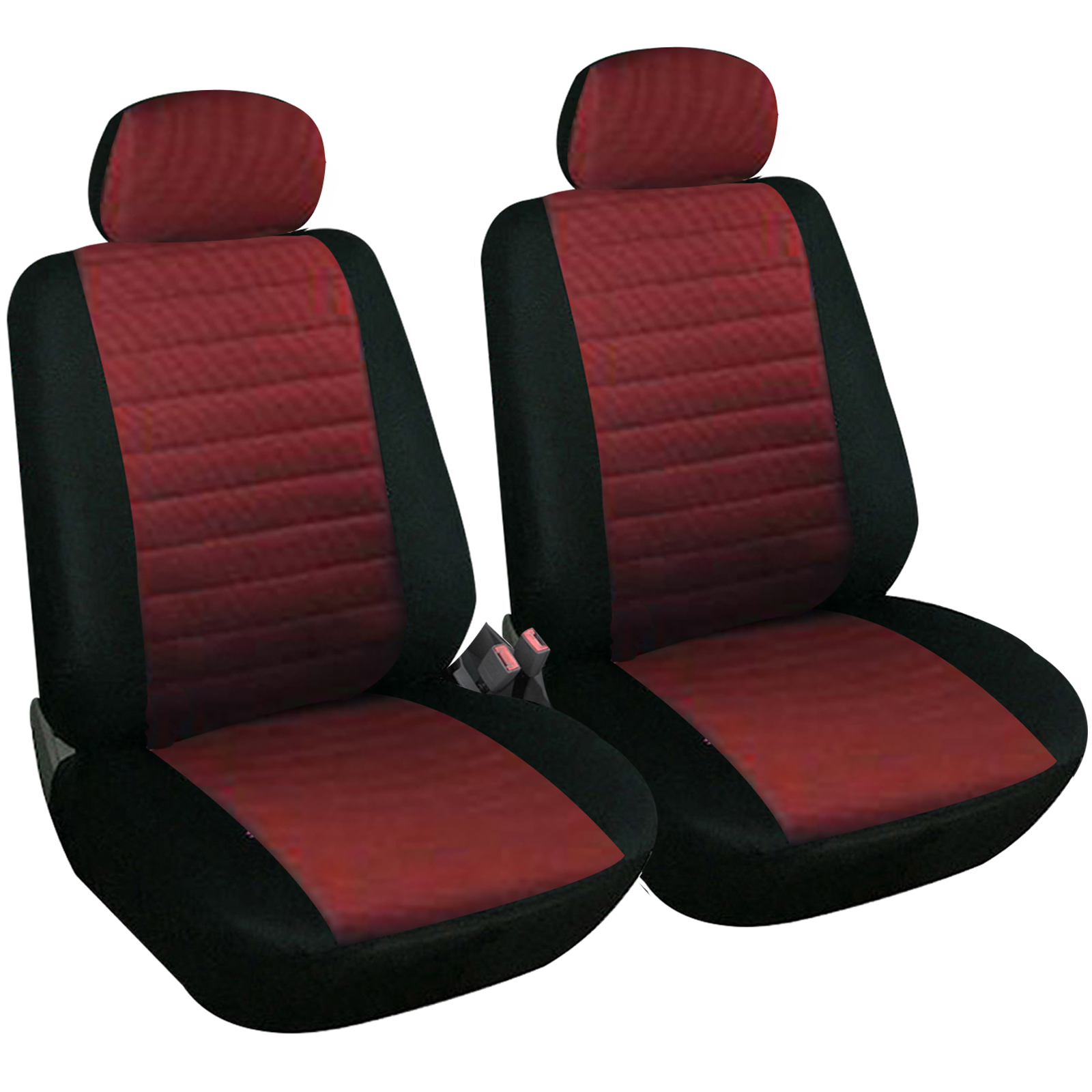 van sitzbez ge schonbez ge 2x einzel sitze vw sharan touran schwarz rot 7233 ebay. Black Bedroom Furniture Sets. Home Design Ideas