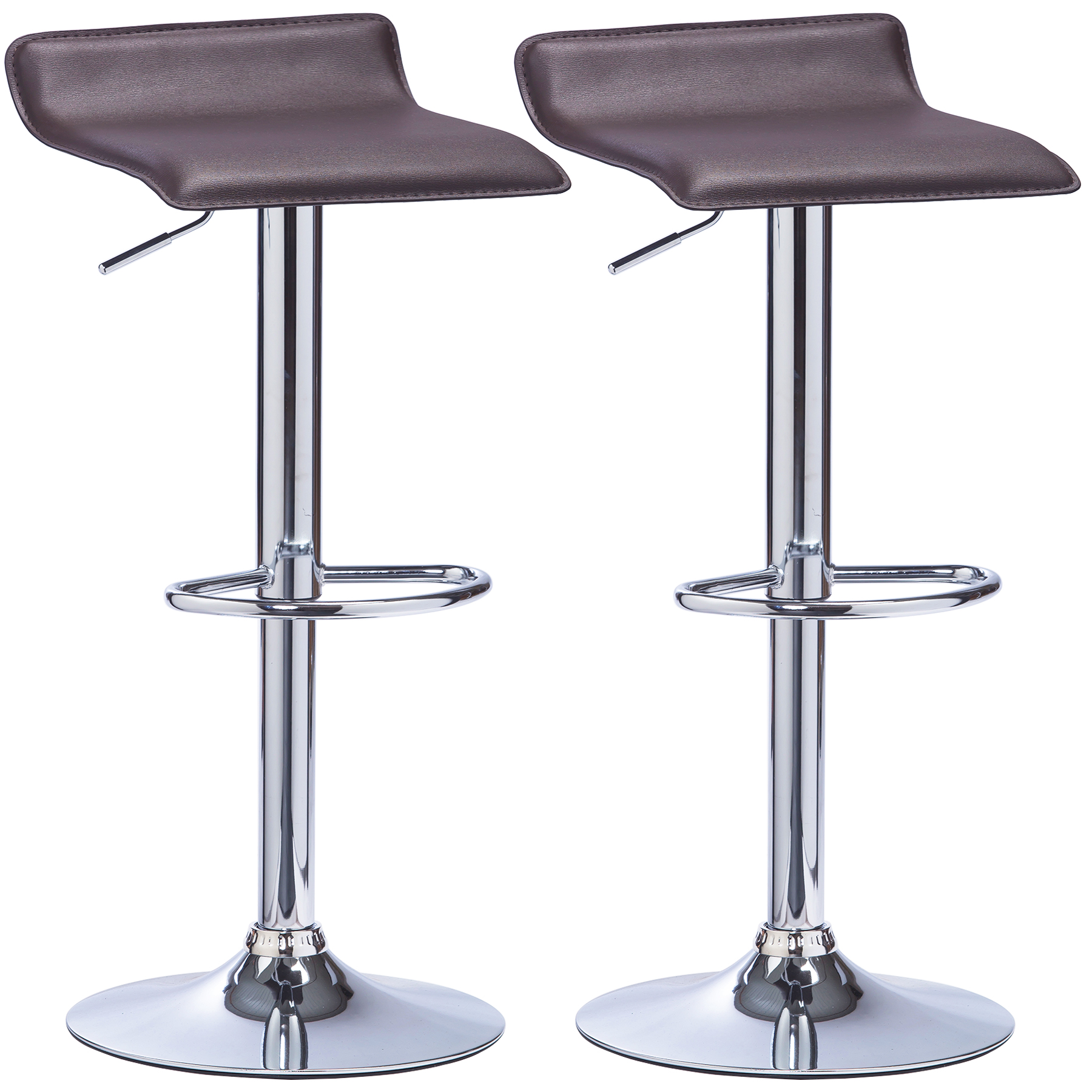 Bar Stools Set Of 2 Swivel Kitchen Breakfast Stools Chair