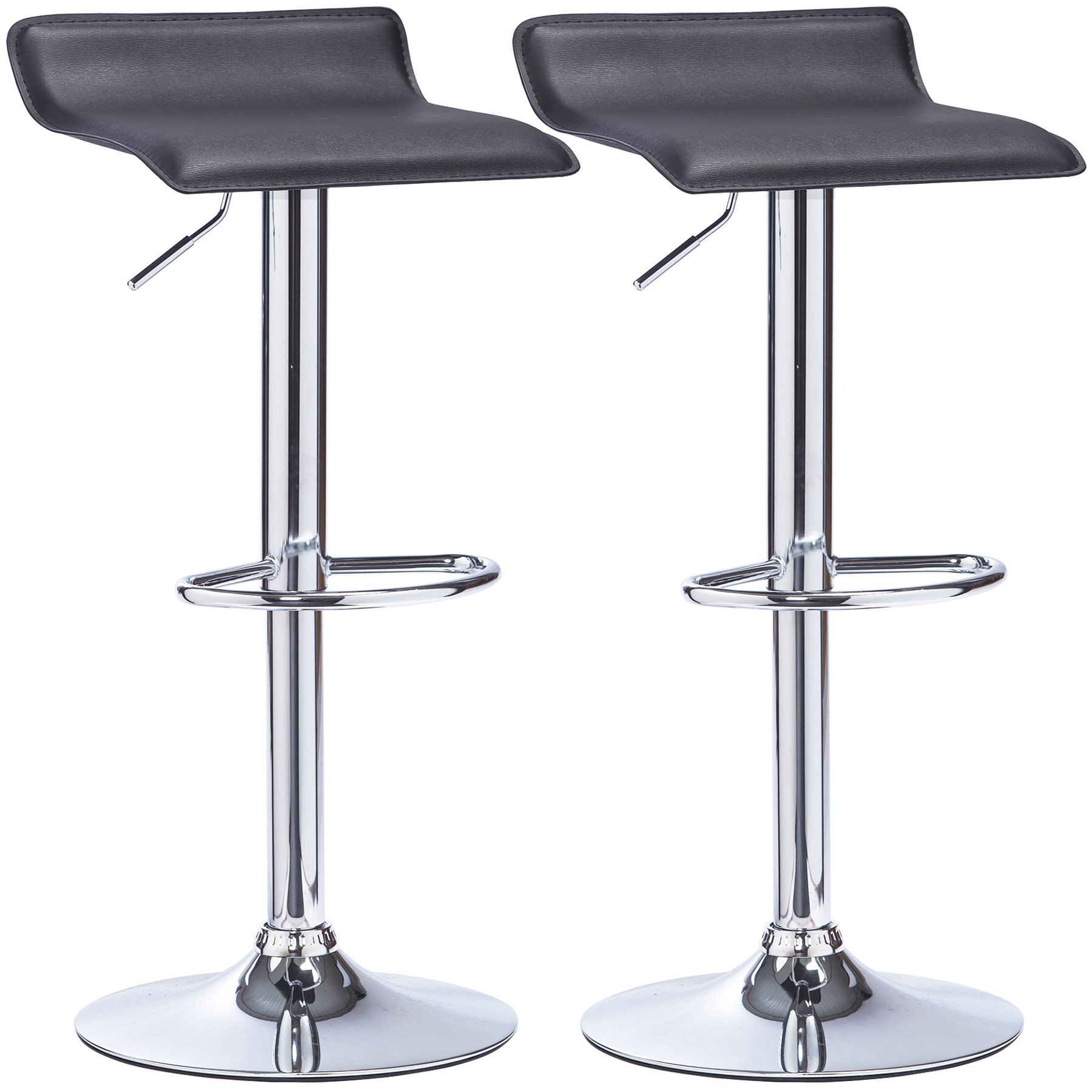Bar Stools Set Of 2 Swivel Kitchen Breakfast Stools Chair Faux Leather U005 Ebay