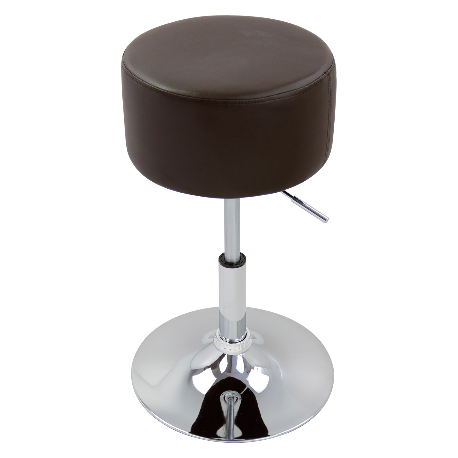 1 2 pcs bar stools faux leather adjustable kitchen breakfast stool chair u007 ebay. Black Bedroom Furniture Sets. Home Design Ideas