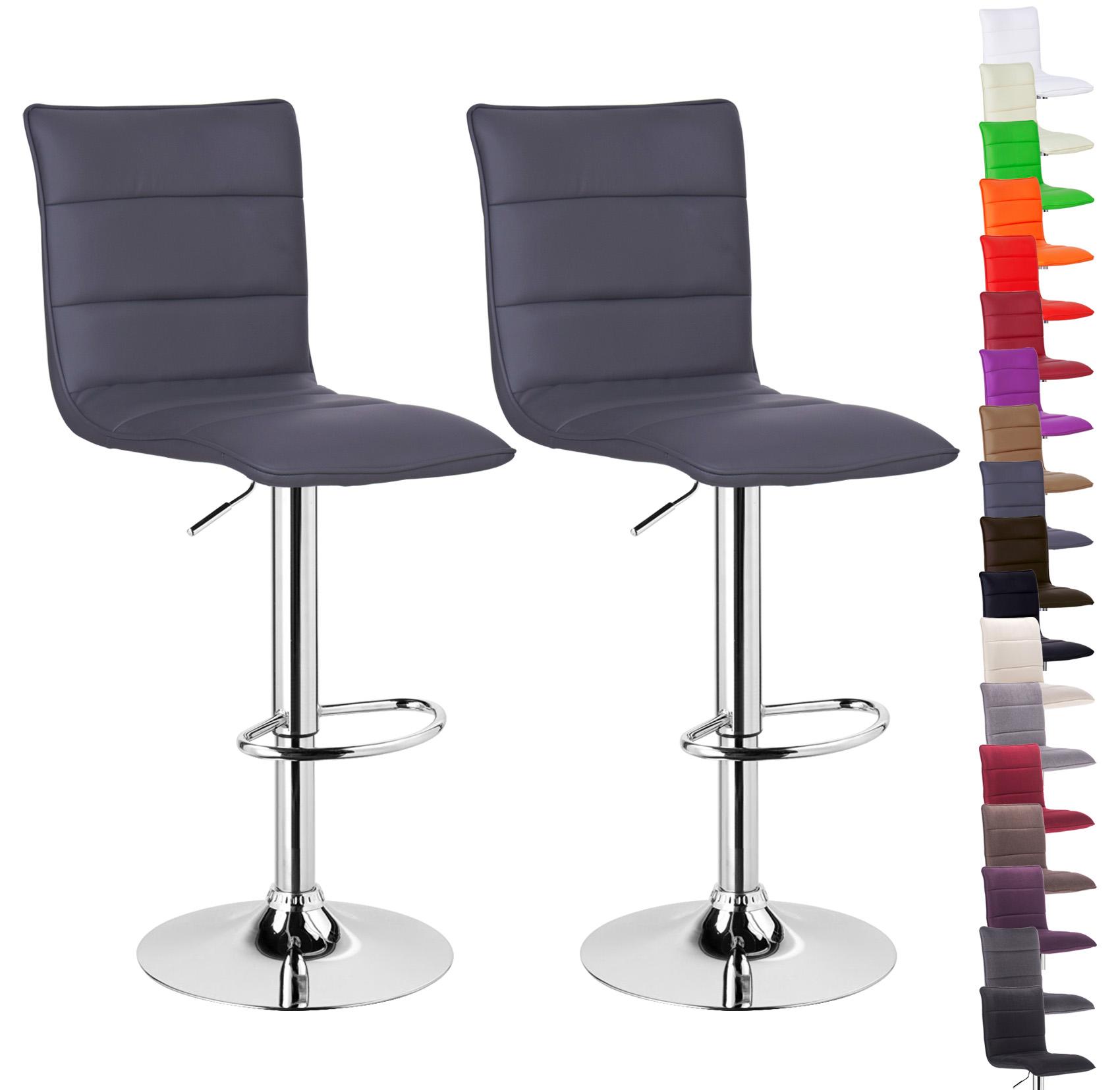 lot de 2 tabouret de bar avec poign e en pu tissu chaise cuisine r glable f008 ebay. Black Bedroom Furniture Sets. Home Design Ideas