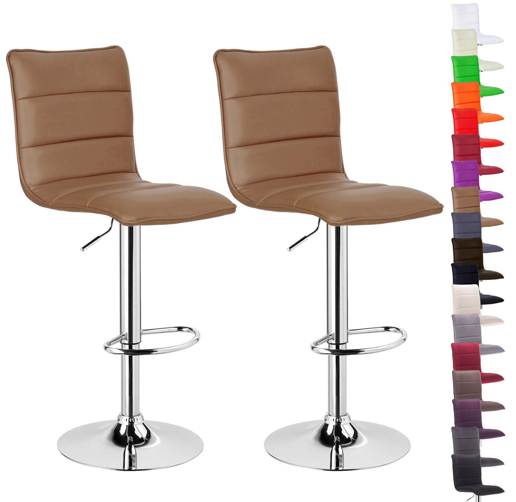 lot de 2 tabouret de bar avec poign e en pu tissu chaise cuisine r glable f008. Black Bedroom Furniture Sets. Home Design Ideas