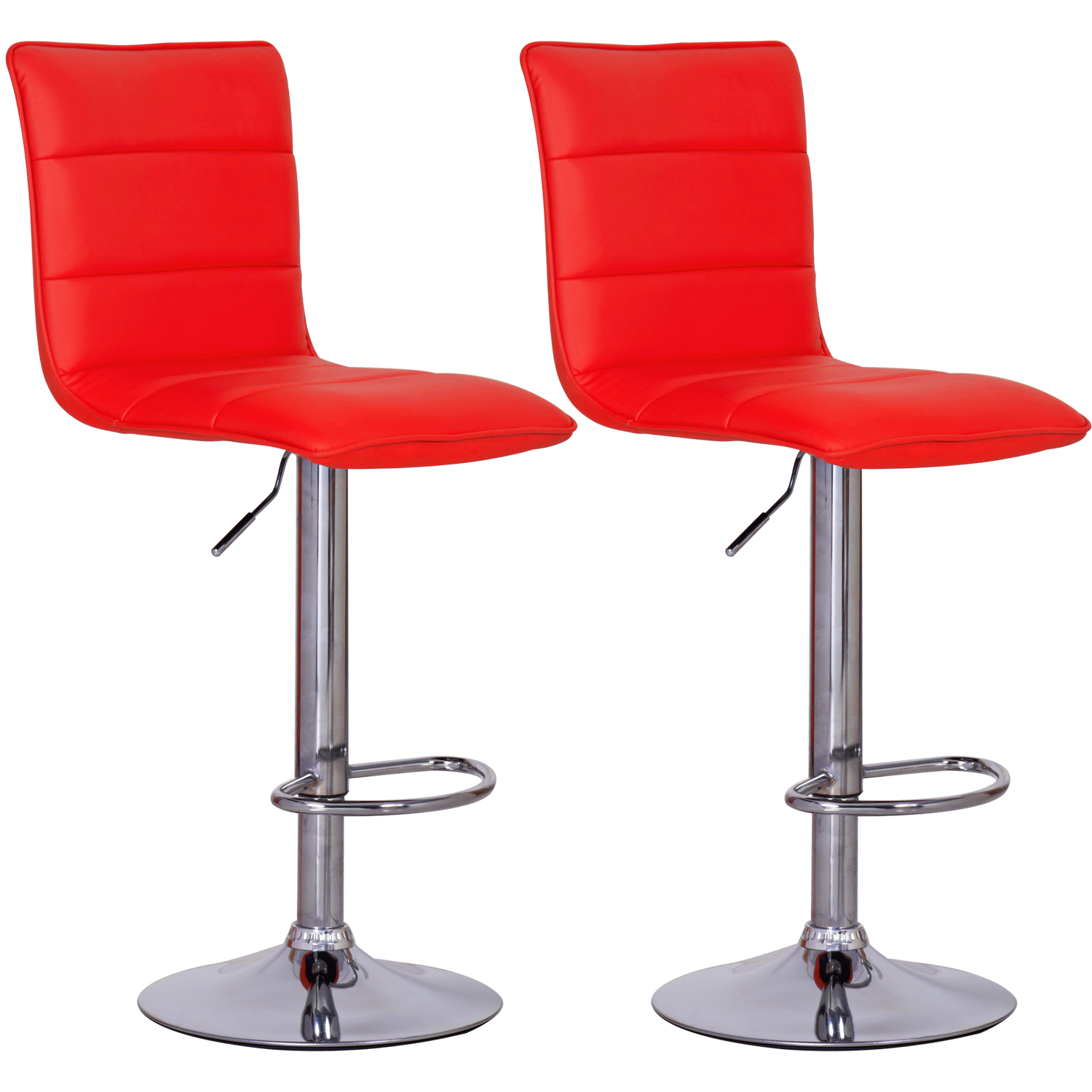 Lot de 2 tabourets de bar r glable en pu pvc chaise - Chaise bar reglable ...