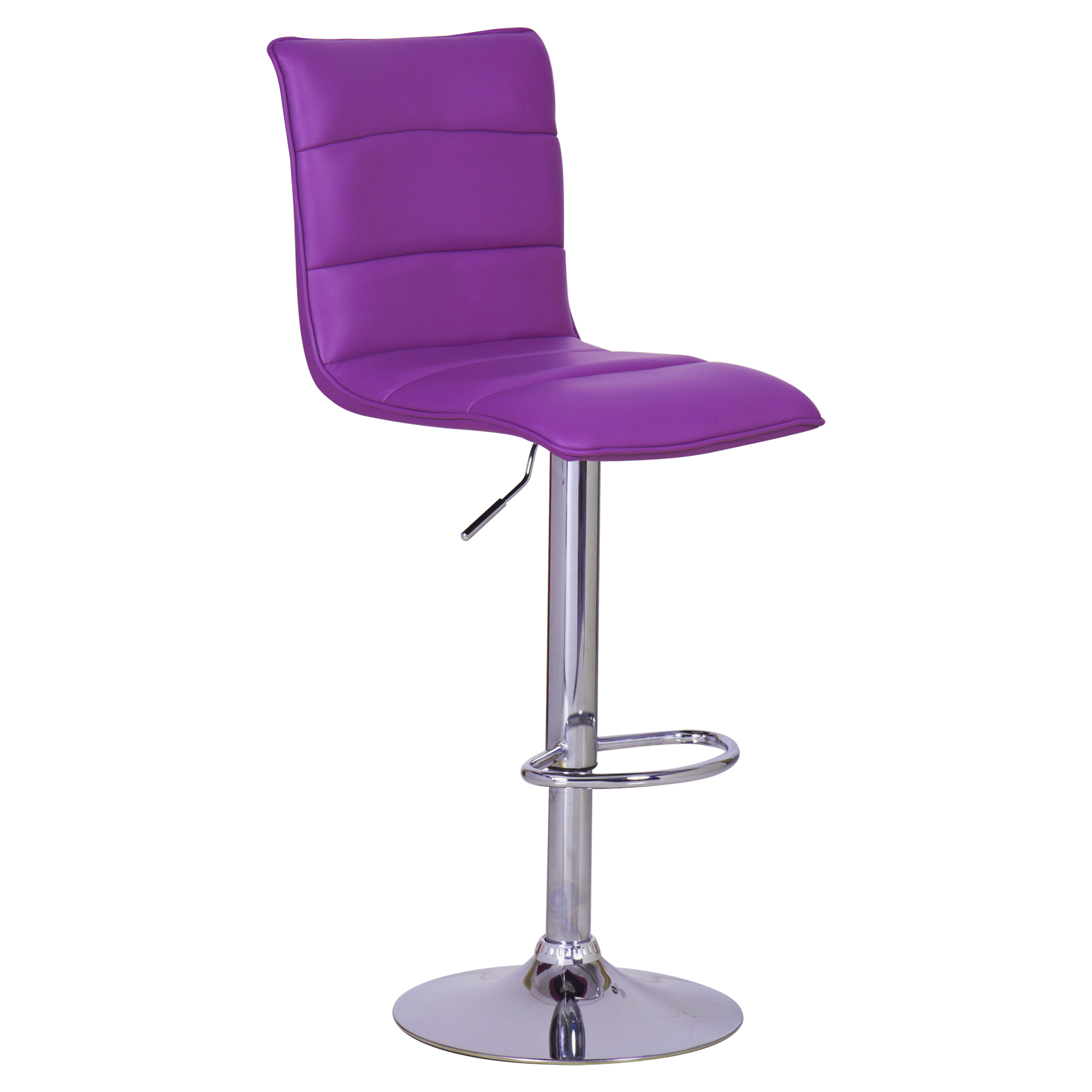 1 x tabouret de bar cuisine r glable cuir synth tique - Chaise bar reglable ...