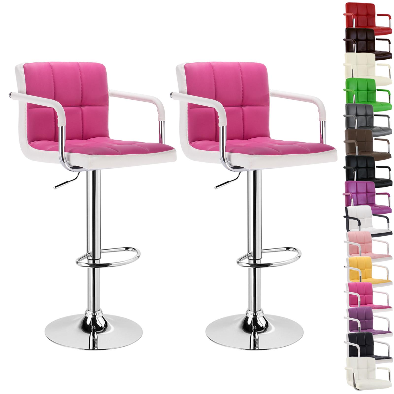 2 tabourets de bar r glable chaise cuisine en cuir artificiel lin f002 ebay. Black Bedroom Furniture Sets. Home Design Ideas