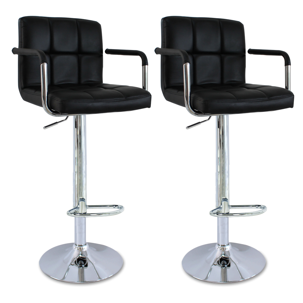 Tabourets de bar avec accoudoir 2 chaise cuisine r glable - Chaise bar reglable ...