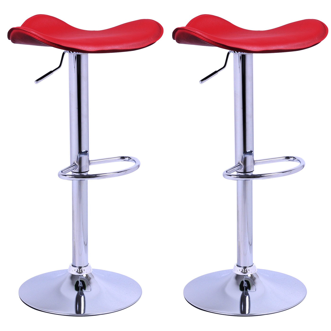 bar stools set of 2 1 faux leather adjust breakfast chair stool dark red u019 ebay. Black Bedroom Furniture Sets. Home Design Ideas