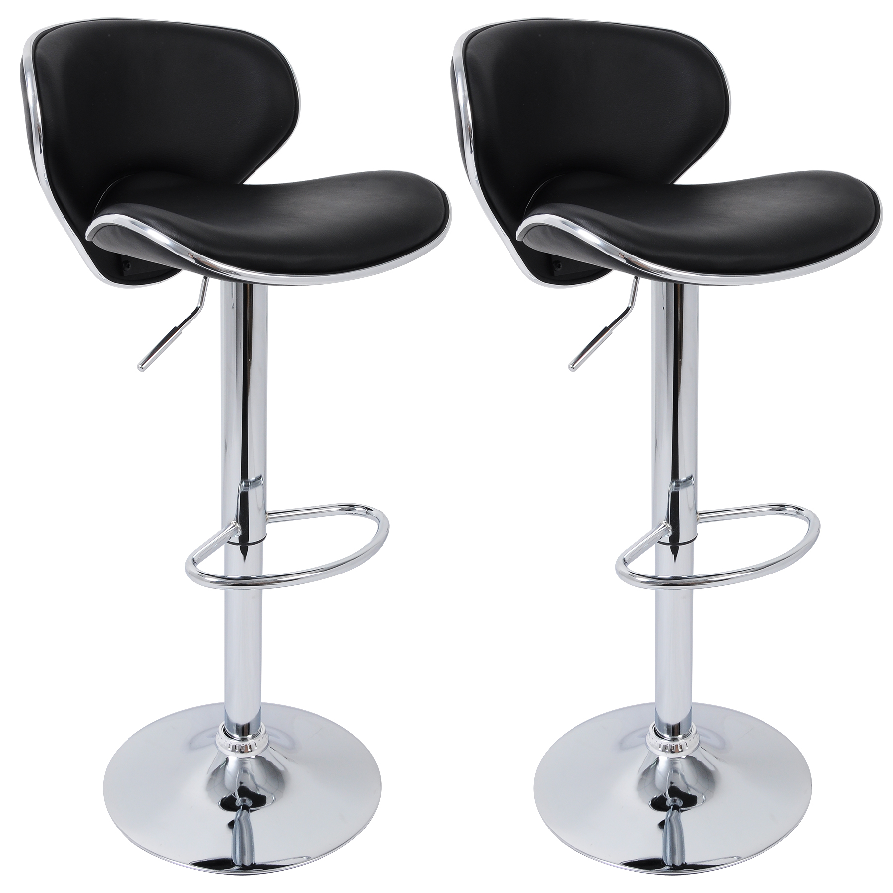 2 x tabourets de bar en cuir synth tique cuisine chaise de - Chaise bar reglable ...