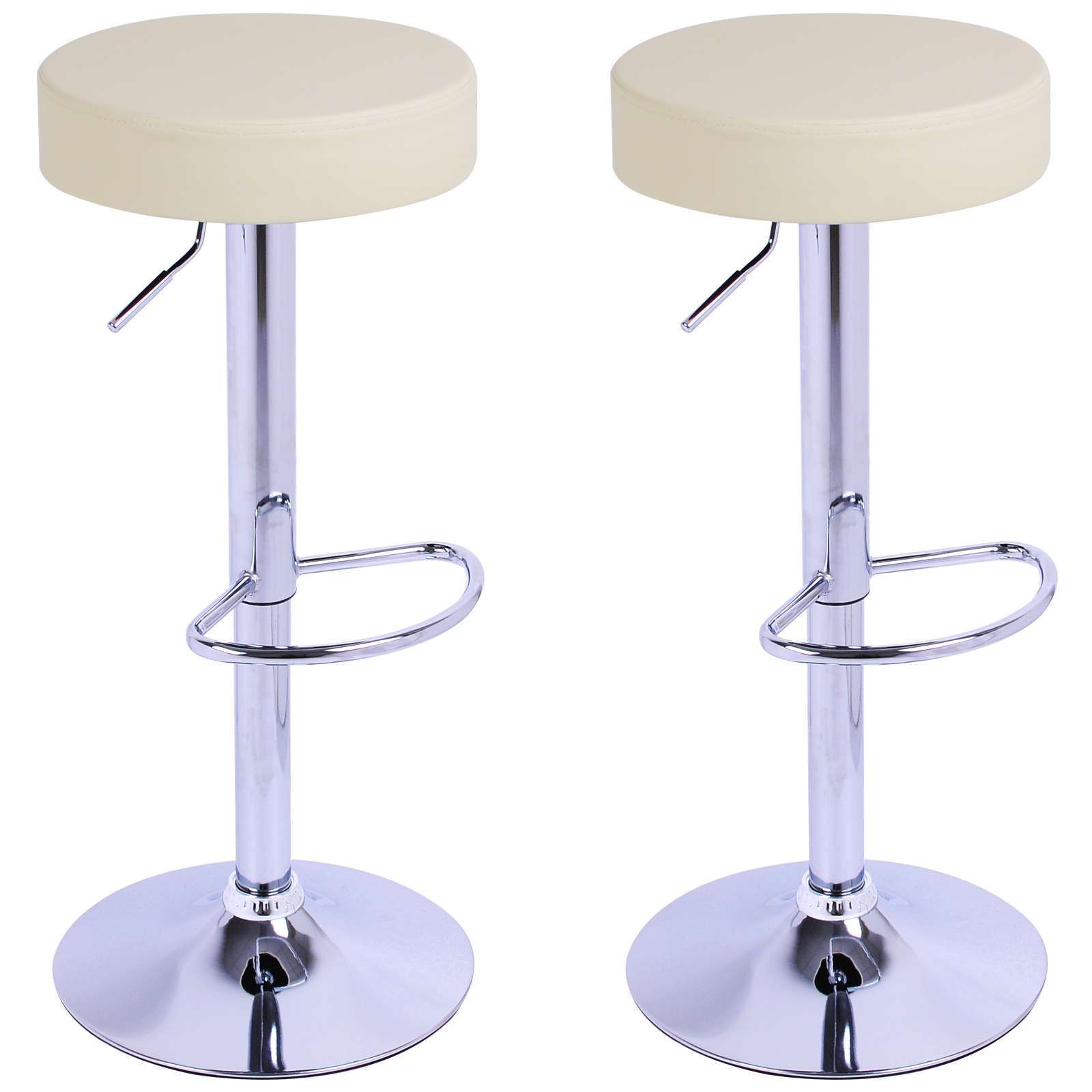 2 x bar stools kitchen chair swivel breakfast stool chrome for Stool chair