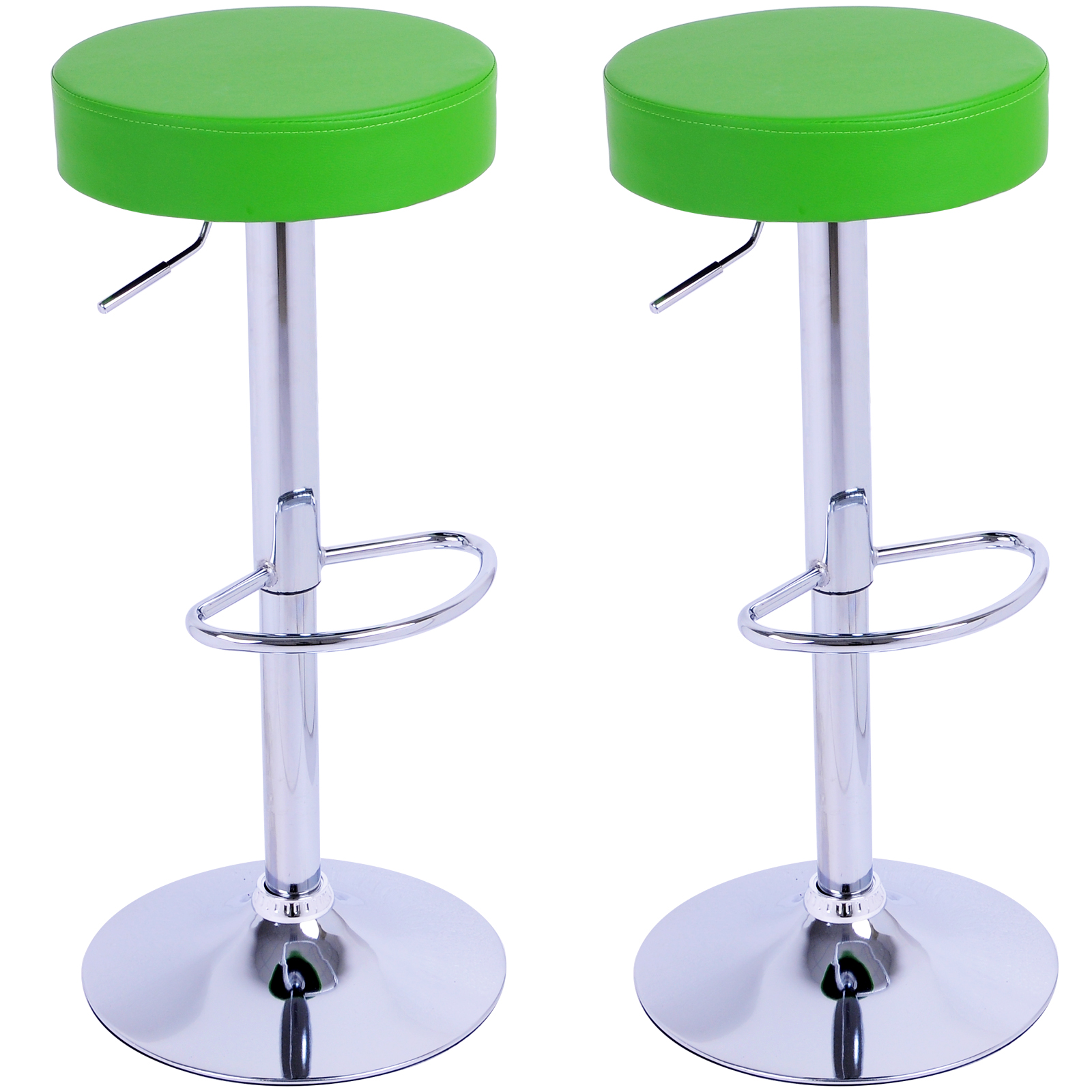 Bar Stools Set Of 2 Breakfast Kitchen Chair Adjustable Barstool Green U020 Ebay