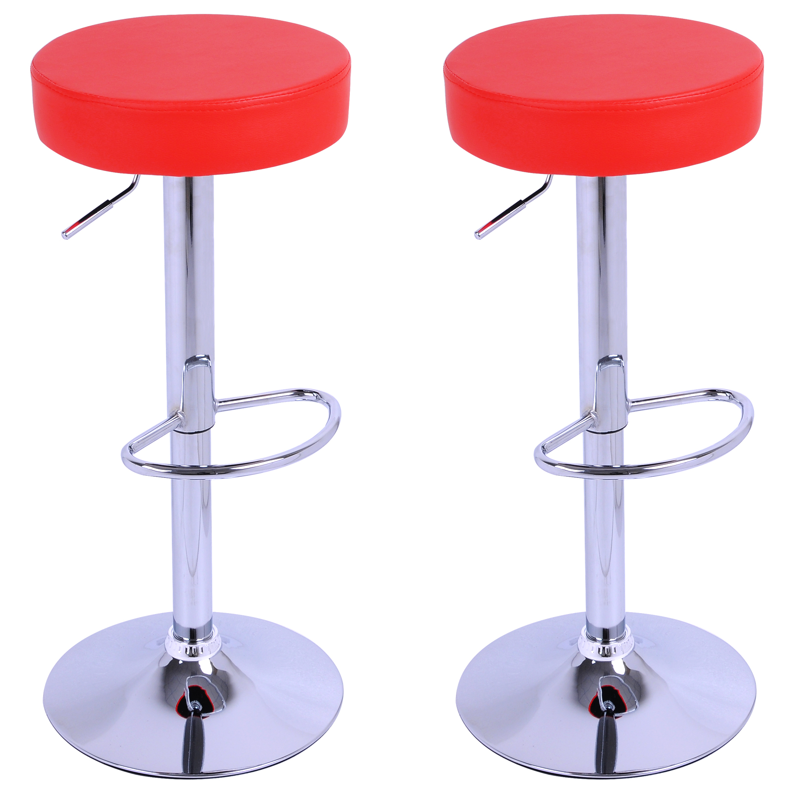 Bar stools set of 2 breakfast kitchen swivel stool chairs for Kitchen swivel bar stools