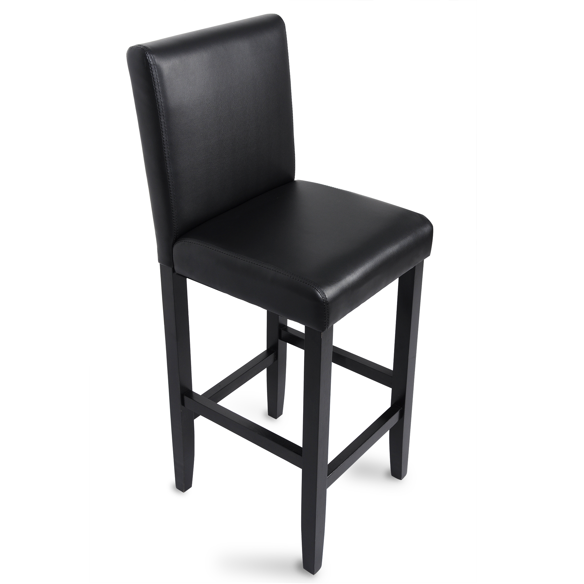 barhocker bistrohocker barst hle mit lehne hocker massivholz schwarz braun 202 ebay. Black Bedroom Furniture Sets. Home Design Ideas