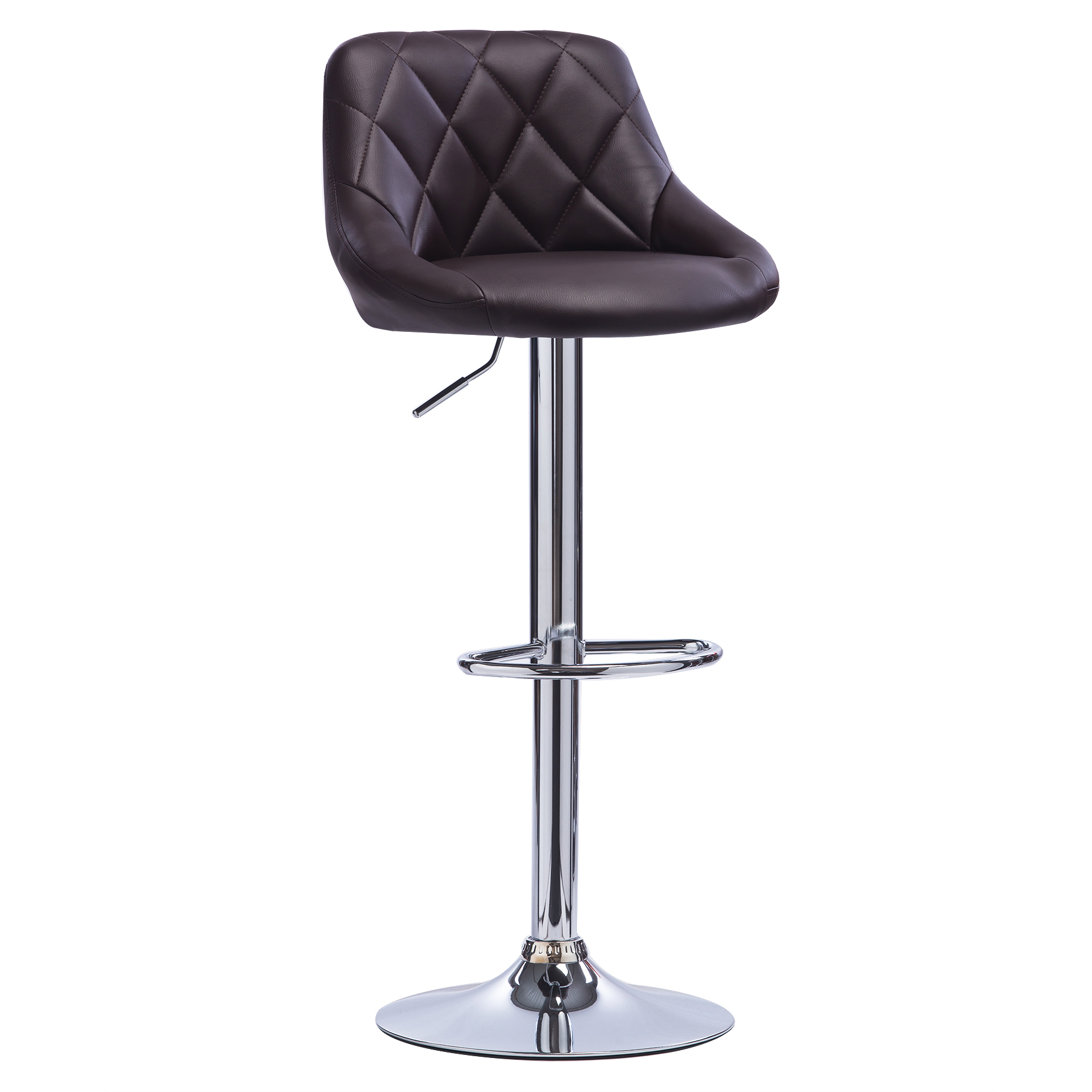 1 pcs bar stools swivel kitchen breakfast stool chair chrome faux leather u015 ebay. Black Bedroom Furniture Sets. Home Design Ideas