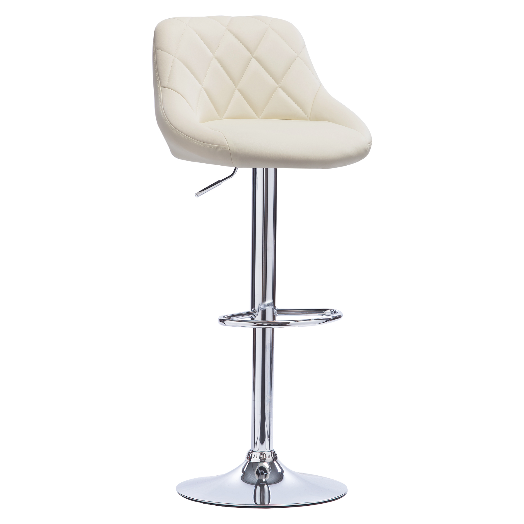 1 tabouret de bar pivotant en cuir synth tique chaise - Chaise bar reglable ...