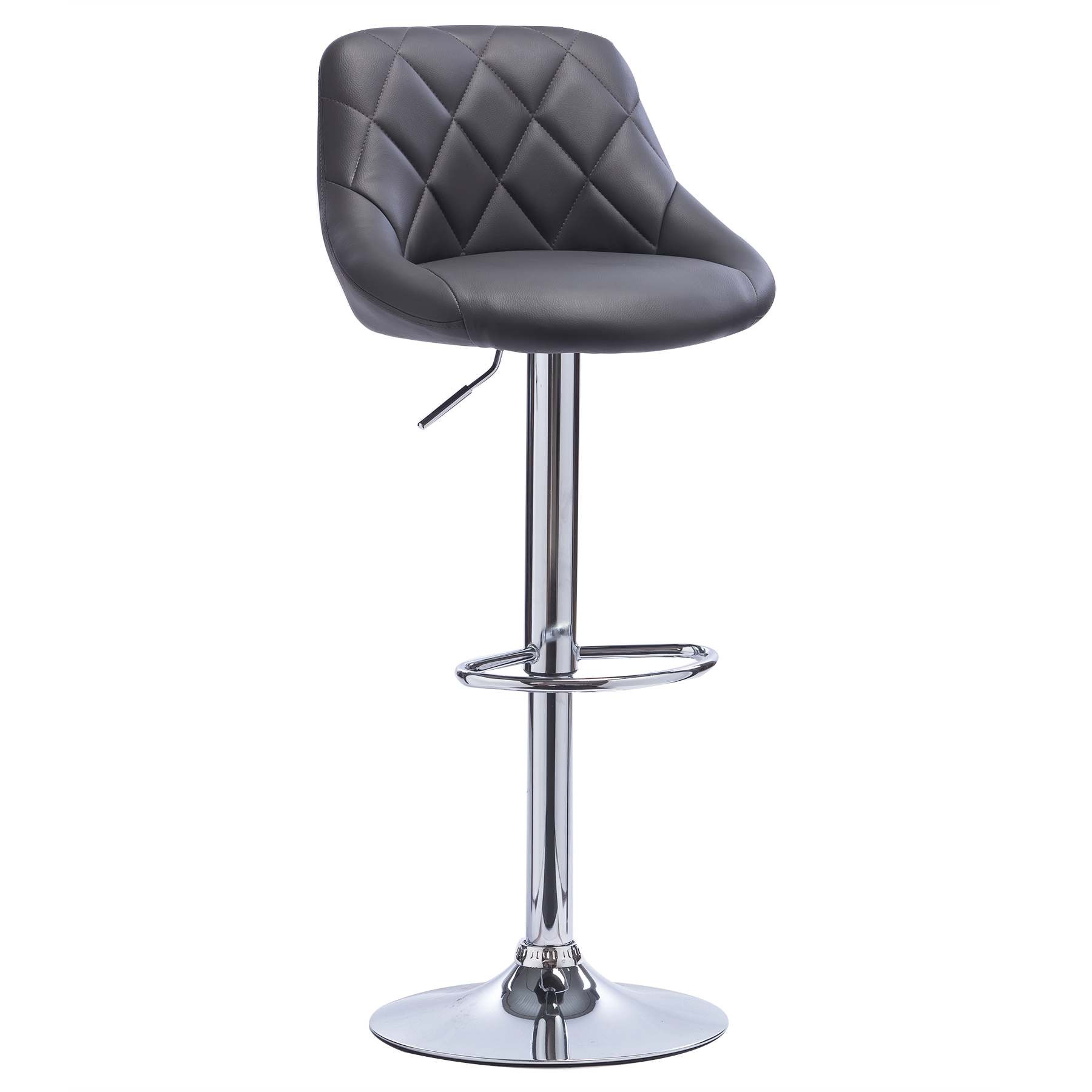 1 tabouret de bar pivotant en cuir synth tique chaise for Chaise de bar en cuir