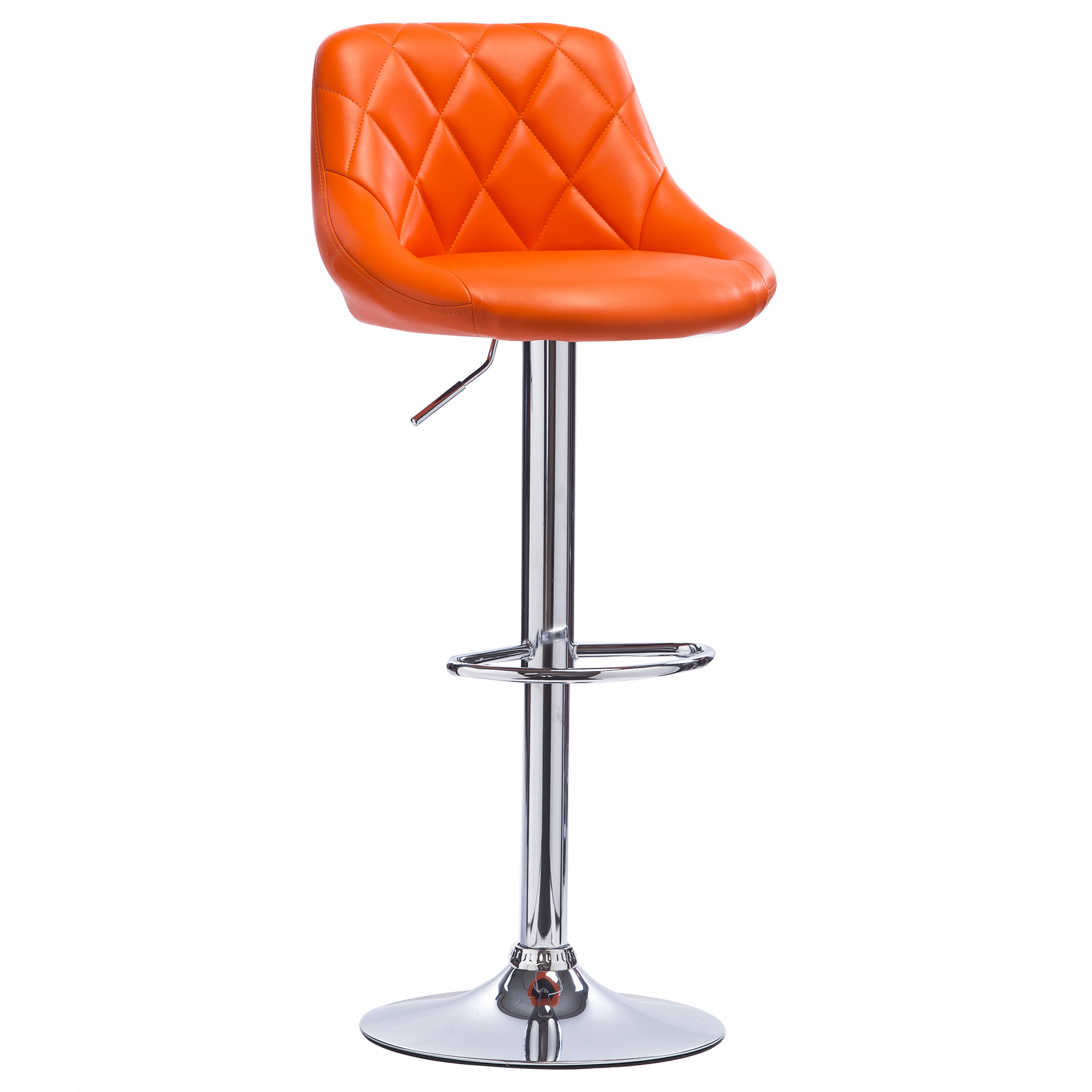 1 Pcs Bar Stools Swivel Kitchen Breakfast Stool Chair Chrome Faux Leather U015 Ebay