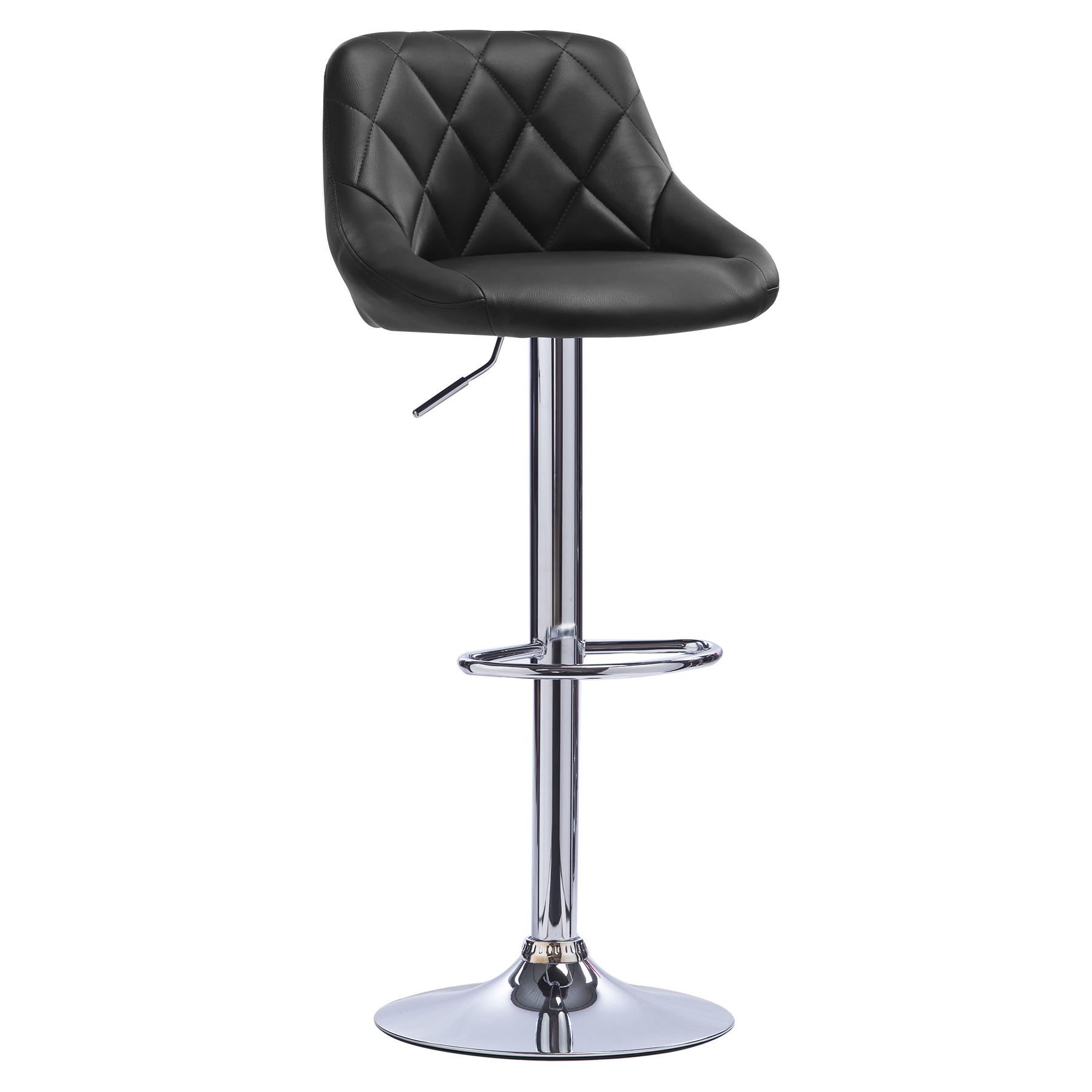1 tabouret de bar pivotant en cuir synth tique chaise cuisine r glable f015 ebay. Black Bedroom Furniture Sets. Home Design Ideas
