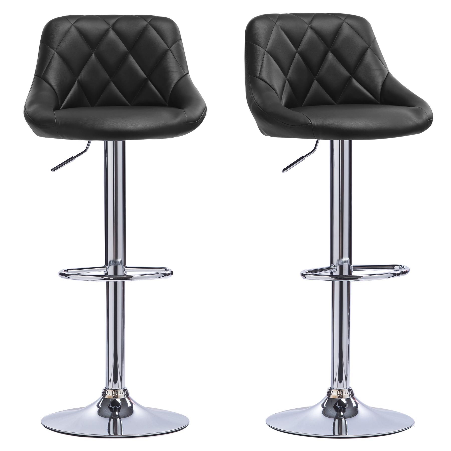 1-2-piece-Tabourets-de-bar-en-PU-Plastique-chaise-cuisine-reglable-Noir-f011