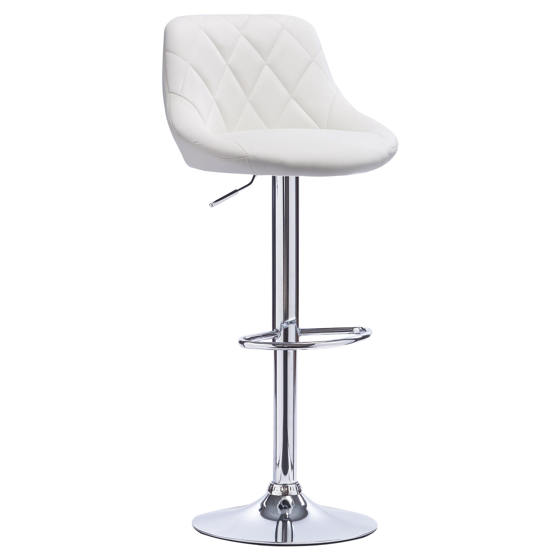 1 tabouret de bar pivotant en cuir synth tique chaise. Black Bedroom Furniture Sets. Home Design Ideas