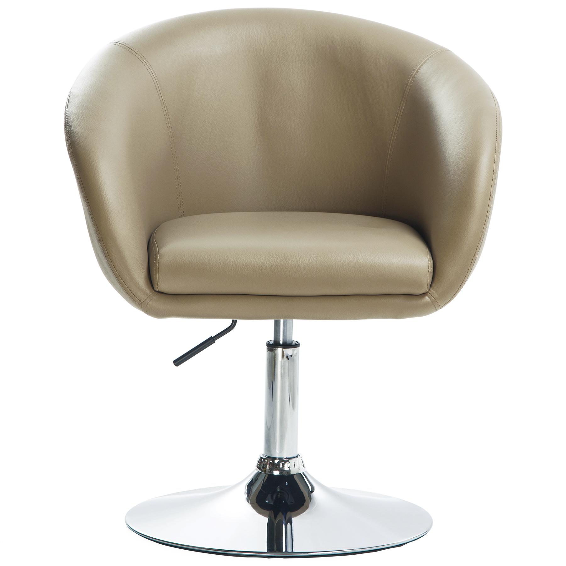 barsessel drehsessel loungesessel mit armlehne hocker kunstleder khaki bh24kk 1 ebay. Black Bedroom Furniture Sets. Home Design Ideas