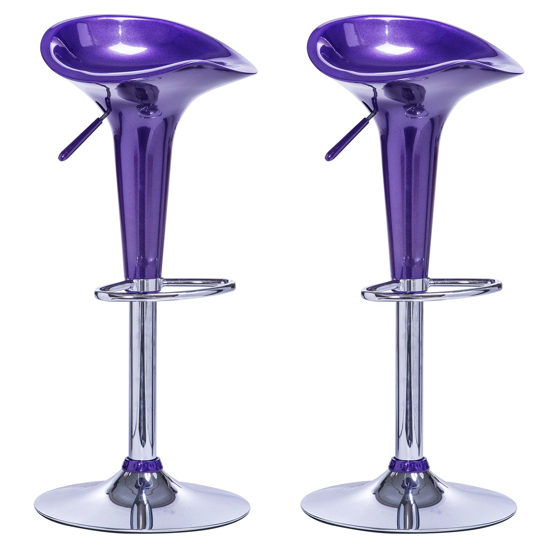 lot de 2 tabourets de bar r glable en plastique chaise de bar cuisine f025 ebay. Black Bedroom Furniture Sets. Home Design Ideas