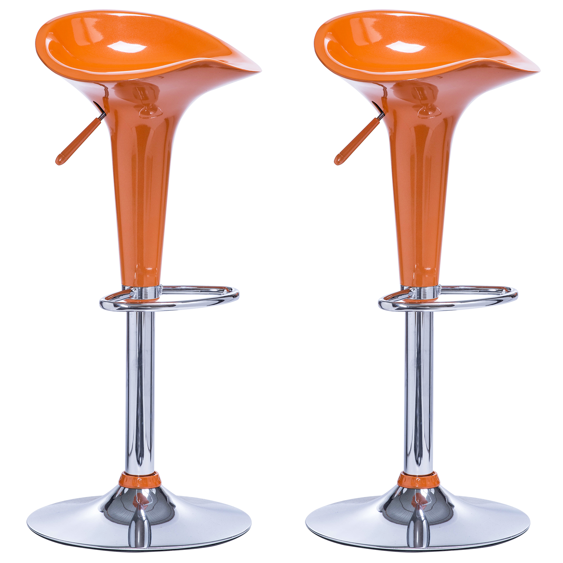 lot de 2 tabourets de bar r glable en plastique chaise de bar cuisine f025 ebay. Black Bedroom Furniture Sets. Home Design Ideas