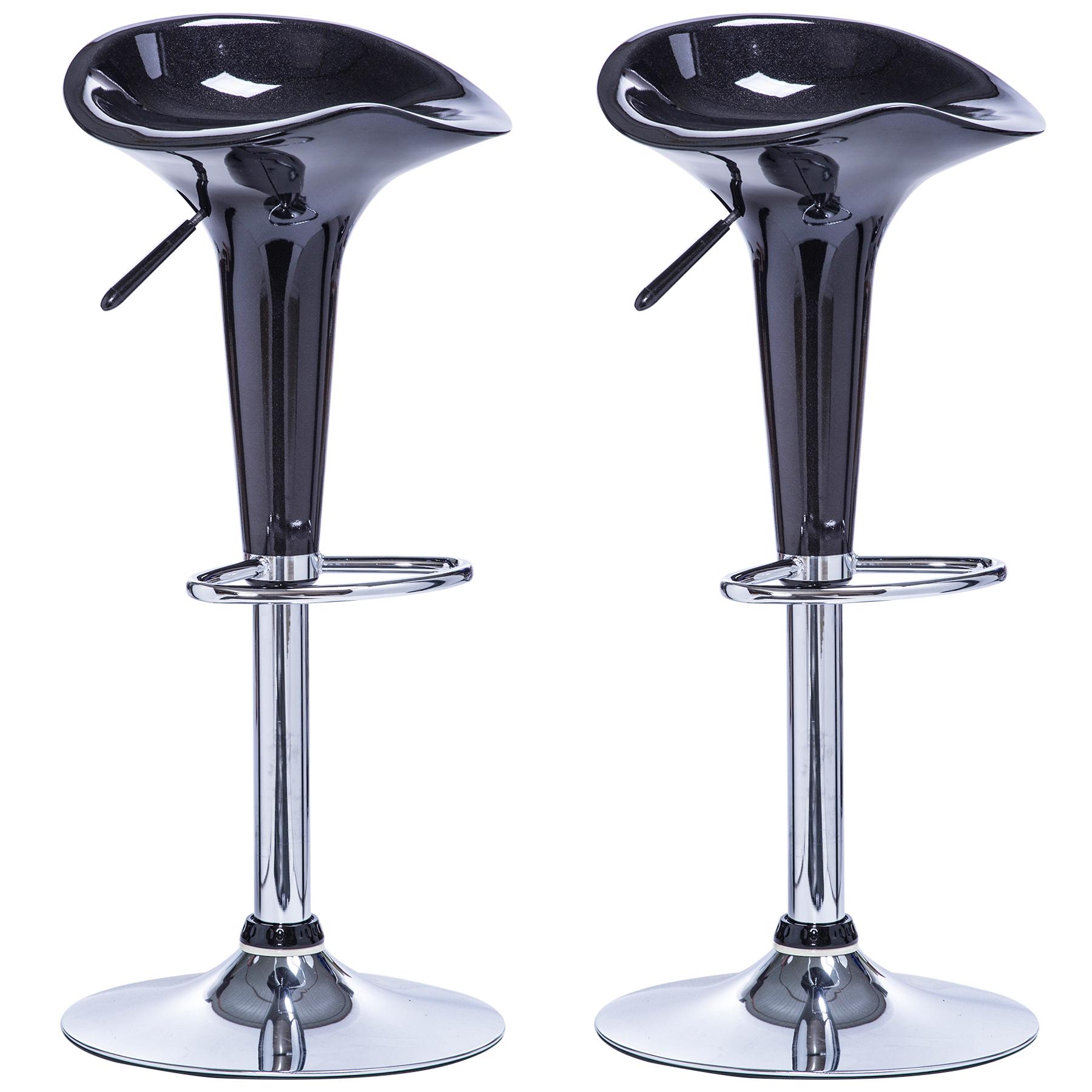 2 x barhocker tresenhocker barstuhl kunststoff drehstuhl. Black Bedroom Furniture Sets. Home Design Ideas