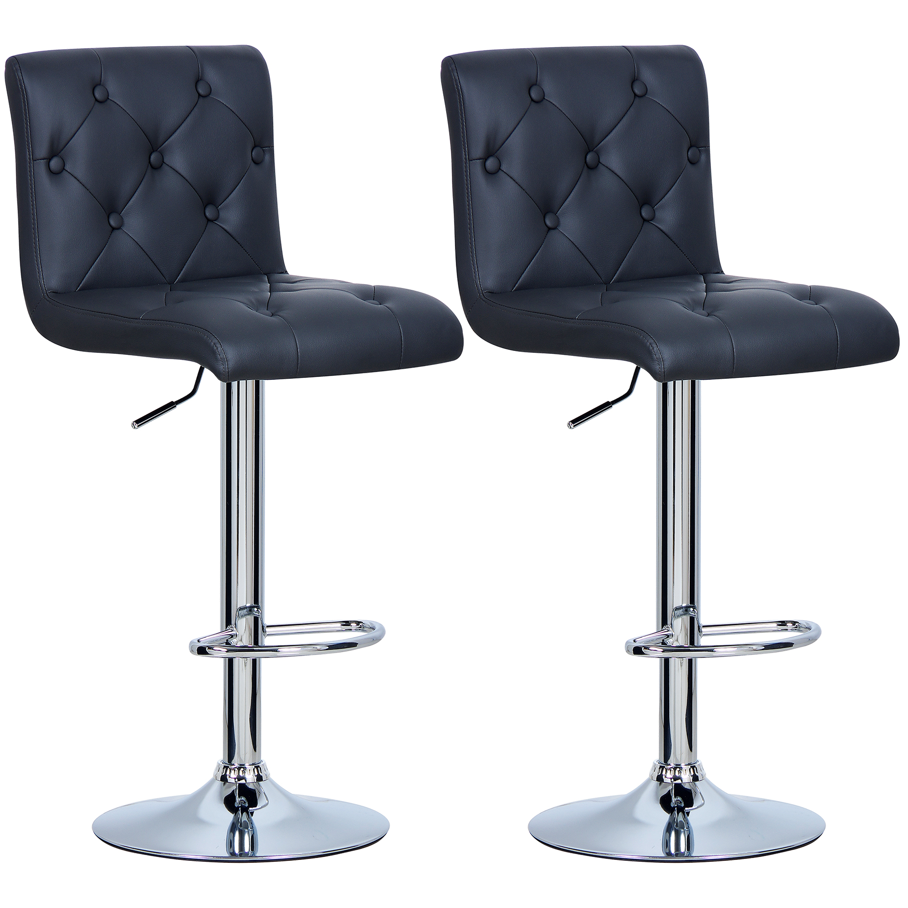 1 2 pi ce tabourets de bar en cuir synth tique chaise - Chaise bar reglable ...