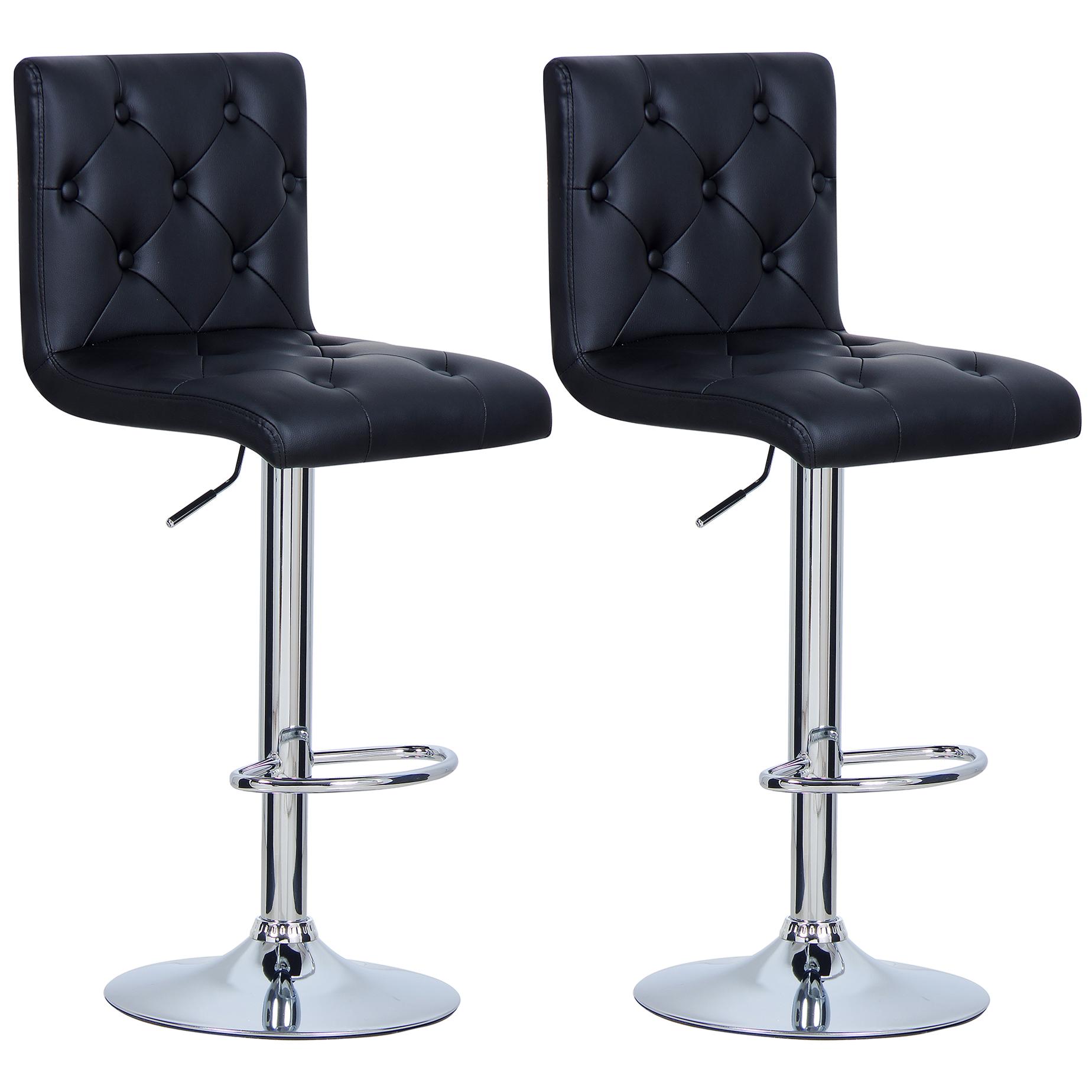1 2 pi ce tabourets de bar en pu plastique chaise cuisine. Black Bedroom Furniture Sets. Home Design Ideas