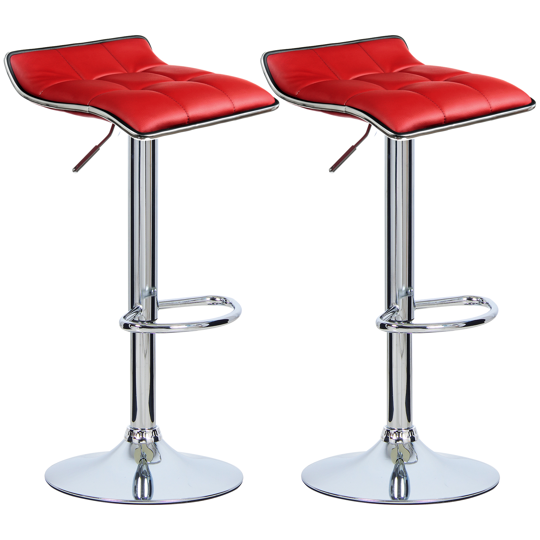 2 x tabouret de bar si ge comptoir chrome similicuir chaise 363 ebay. Black Bedroom Furniture Sets. Home Design Ideas