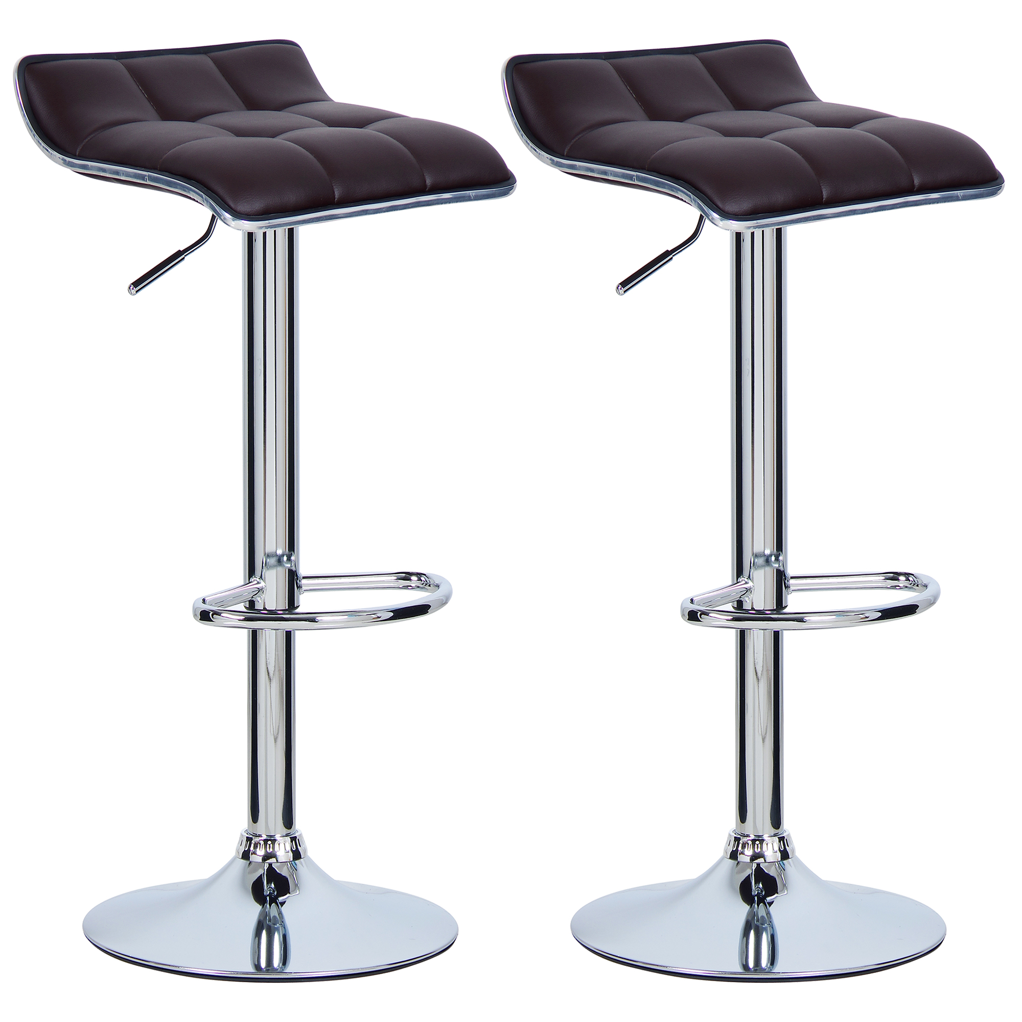 Set Of 2 Bar Stools Barstool Breakfast Kitchen Stool Chair Adjustable U027 Ebay