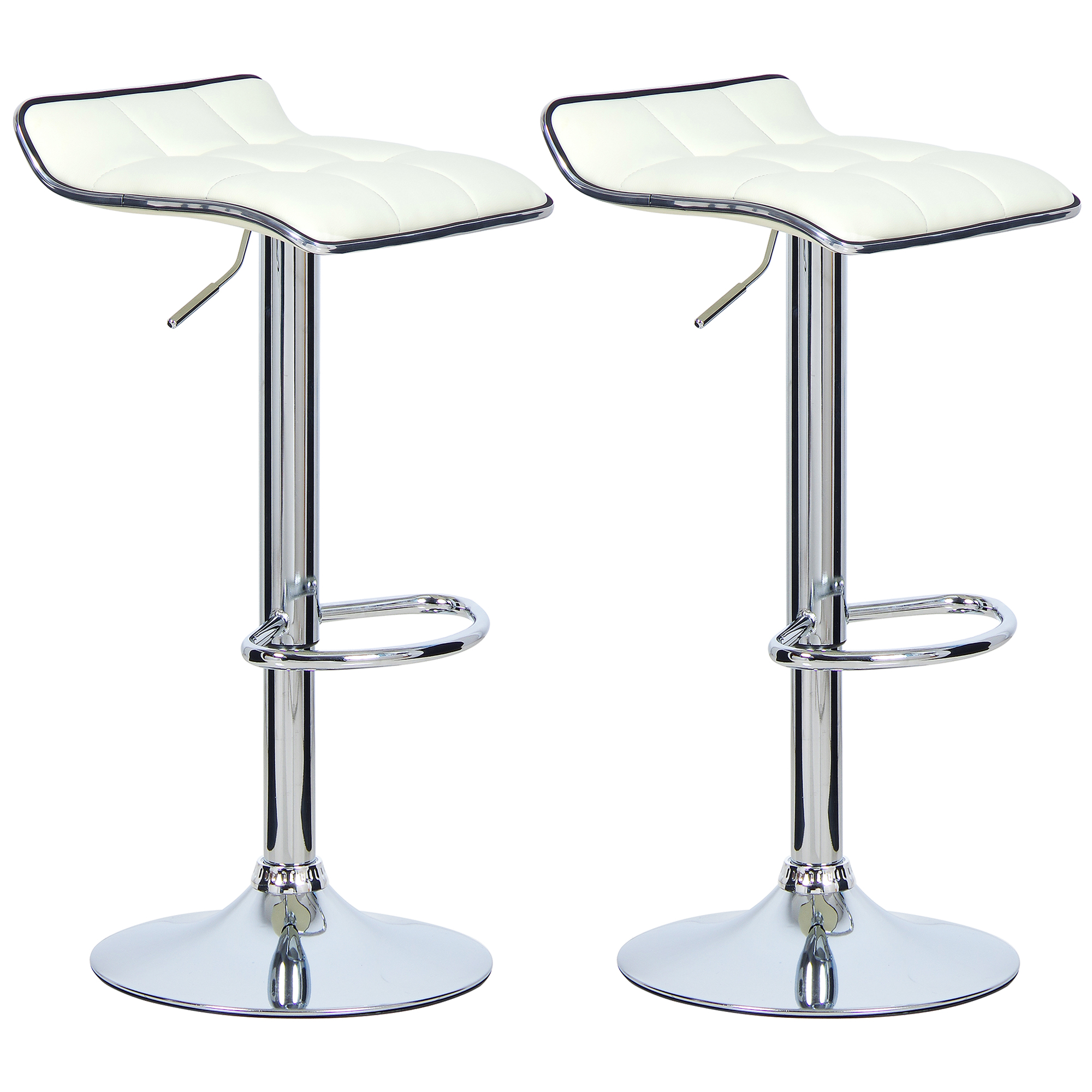 2 tabourets de bar r glable cuir synth tique cuisine for Bar pivotant cuisine