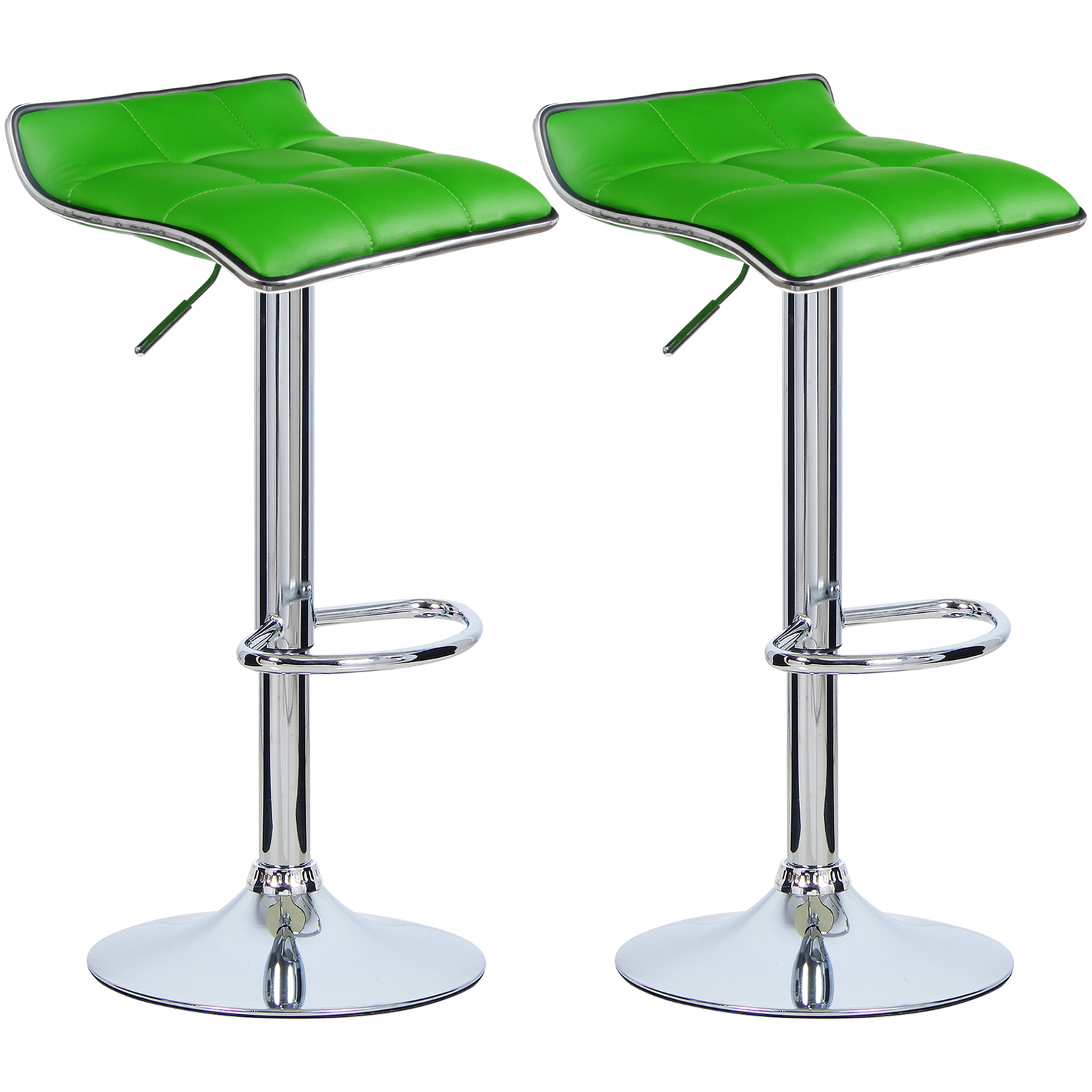 2 tabourets de bar r glable cuir synth tique cuisine - Chaise bar reglable ...