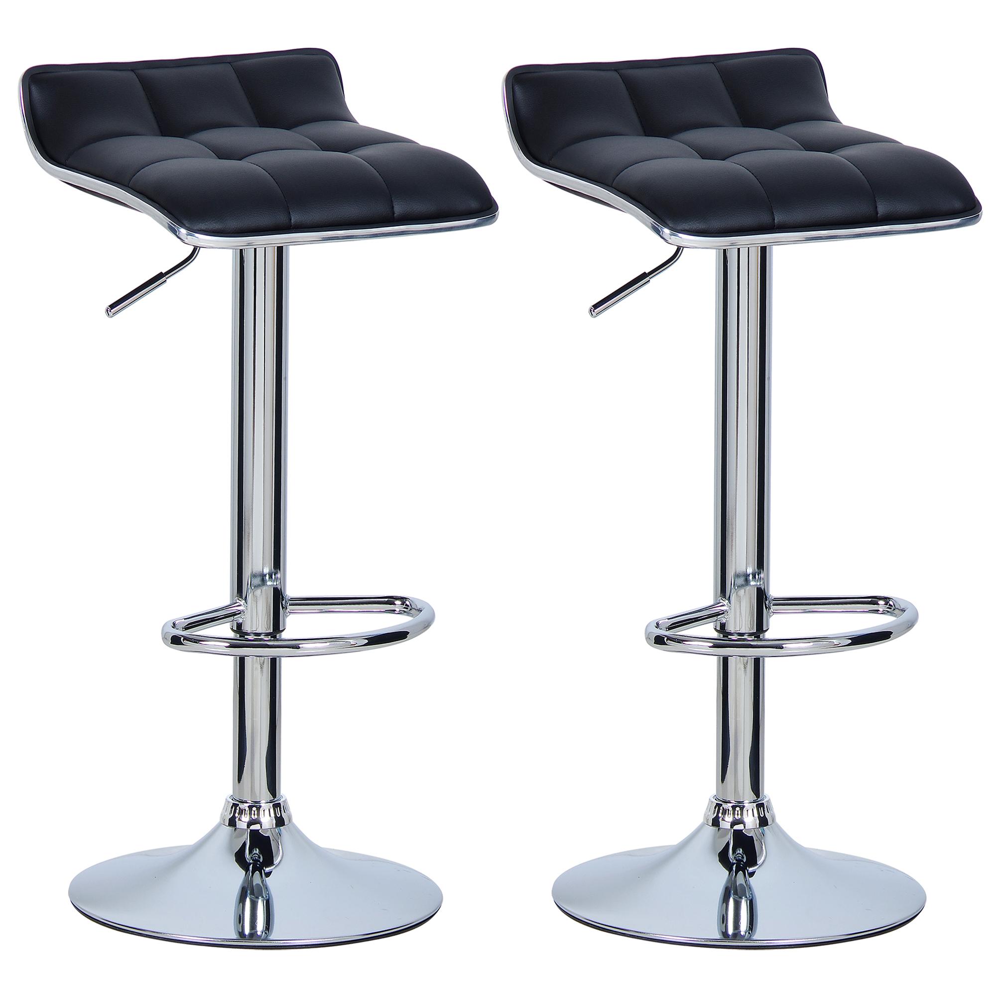 lot de 2 tabourets de bar r glable en pvc pu chaise cuisine pivotant 360 f036 ebay. Black Bedroom Furniture Sets. Home Design Ideas